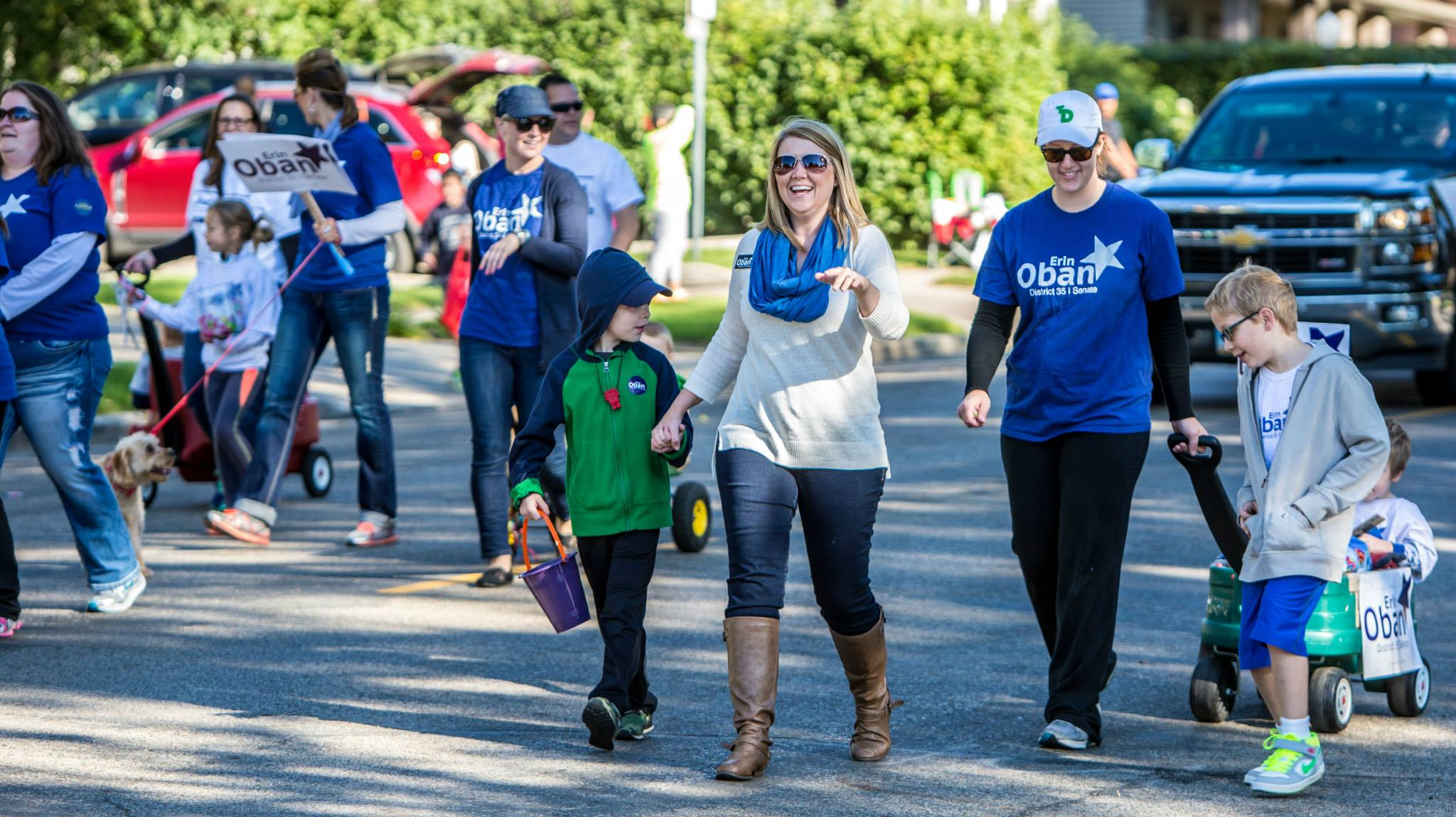 You can help my campaign in many ways, including walking in parades, doorknocking or making calls.  (Photo credit:  Chad Nodland)