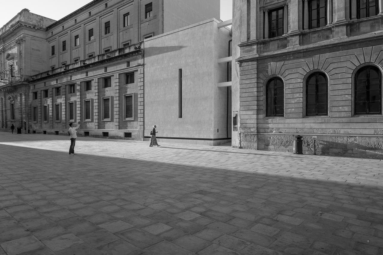 Vincenzo Latina / Padiglione di accesso agli scavi dell'Artemision di Ortigia
