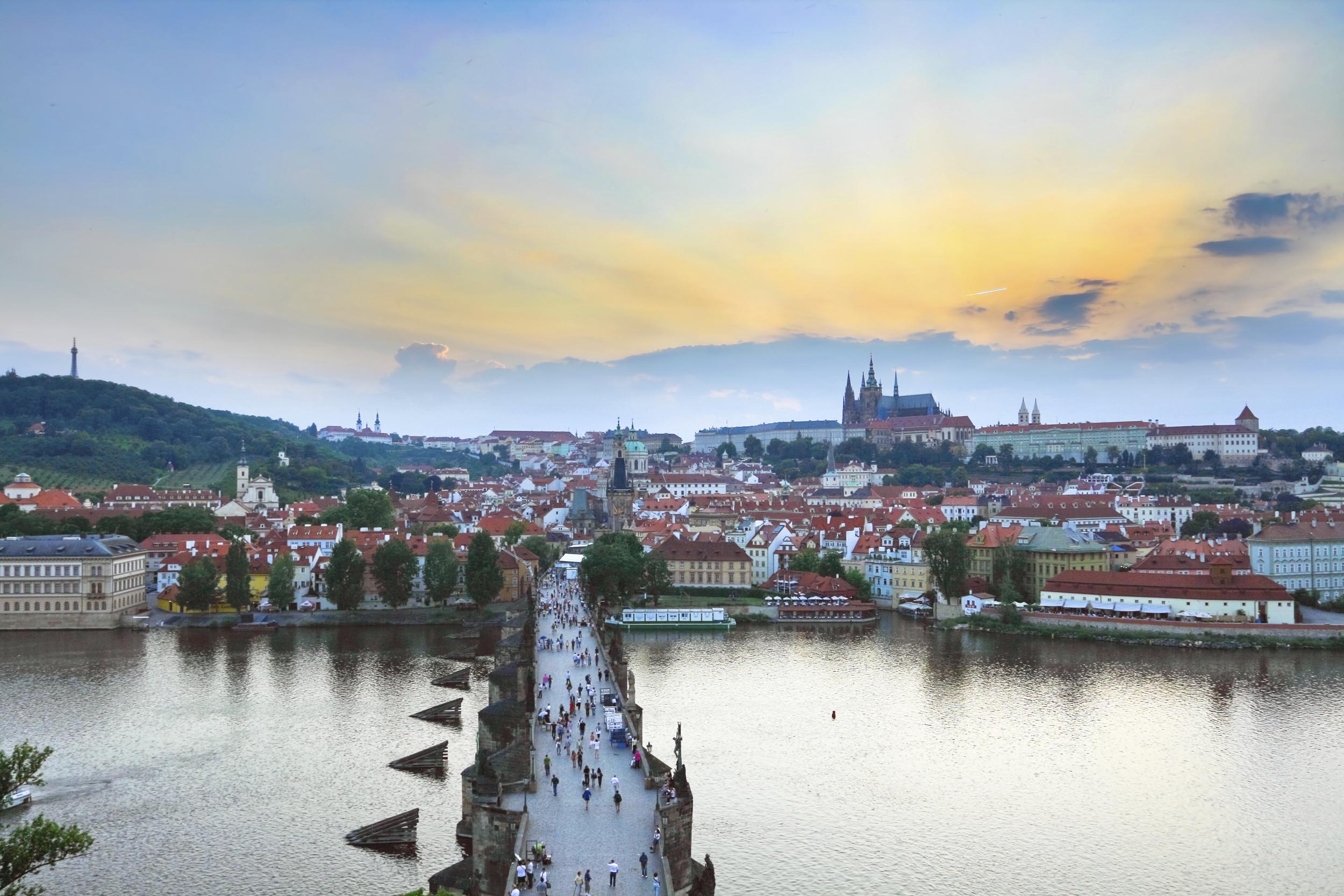 Sunset in Prague_ThinkStock_19jul12.jpg