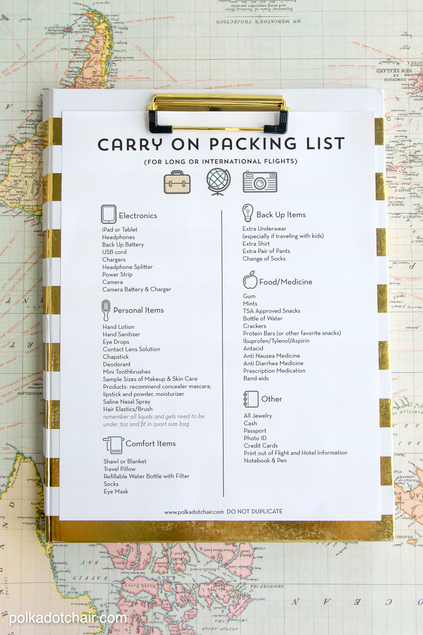 Airplane Travel Tips/Printable Packing List