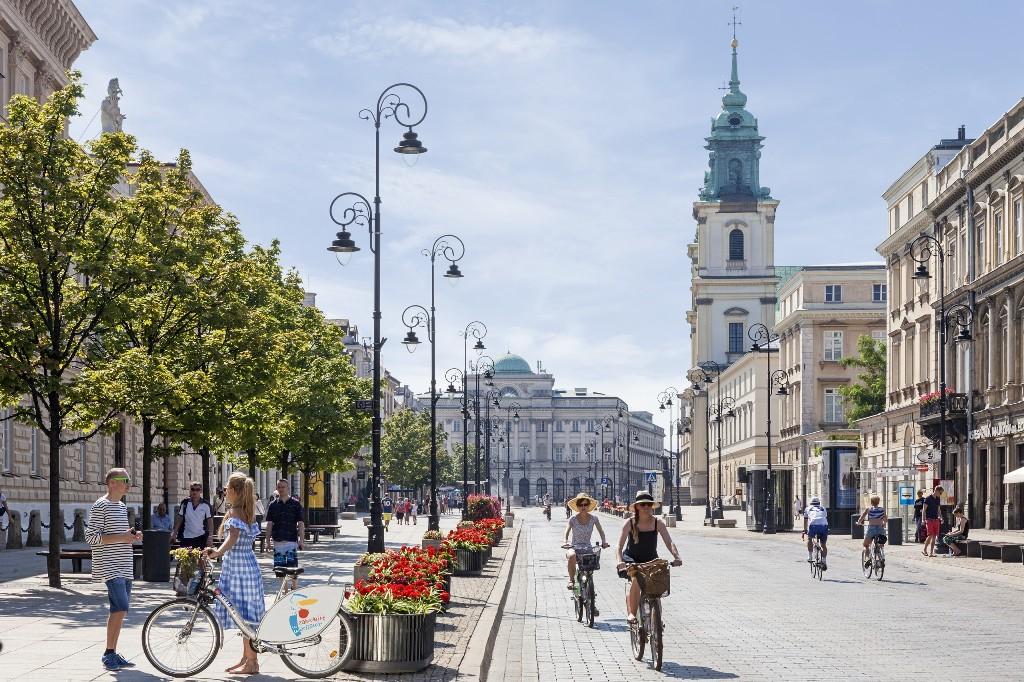 Bustling Warsaw