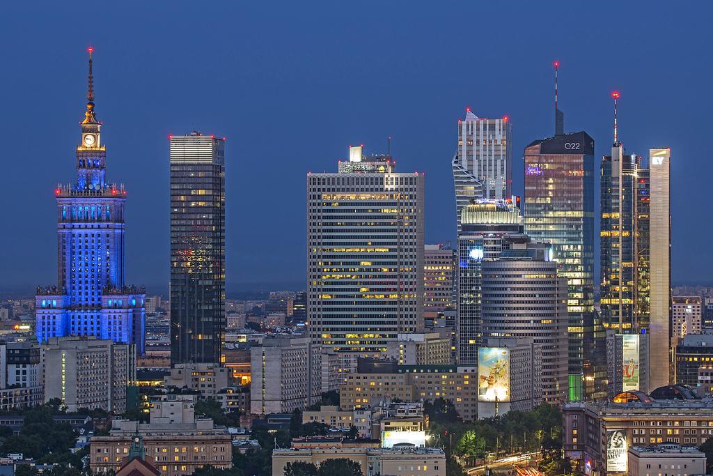 Modern Warsaw Skyline