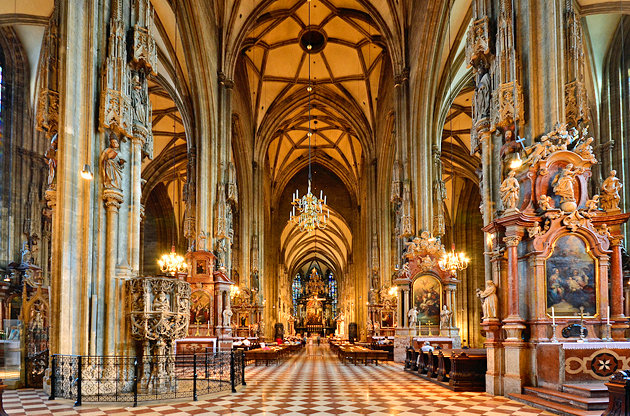 Inside St. Stephens Basilica