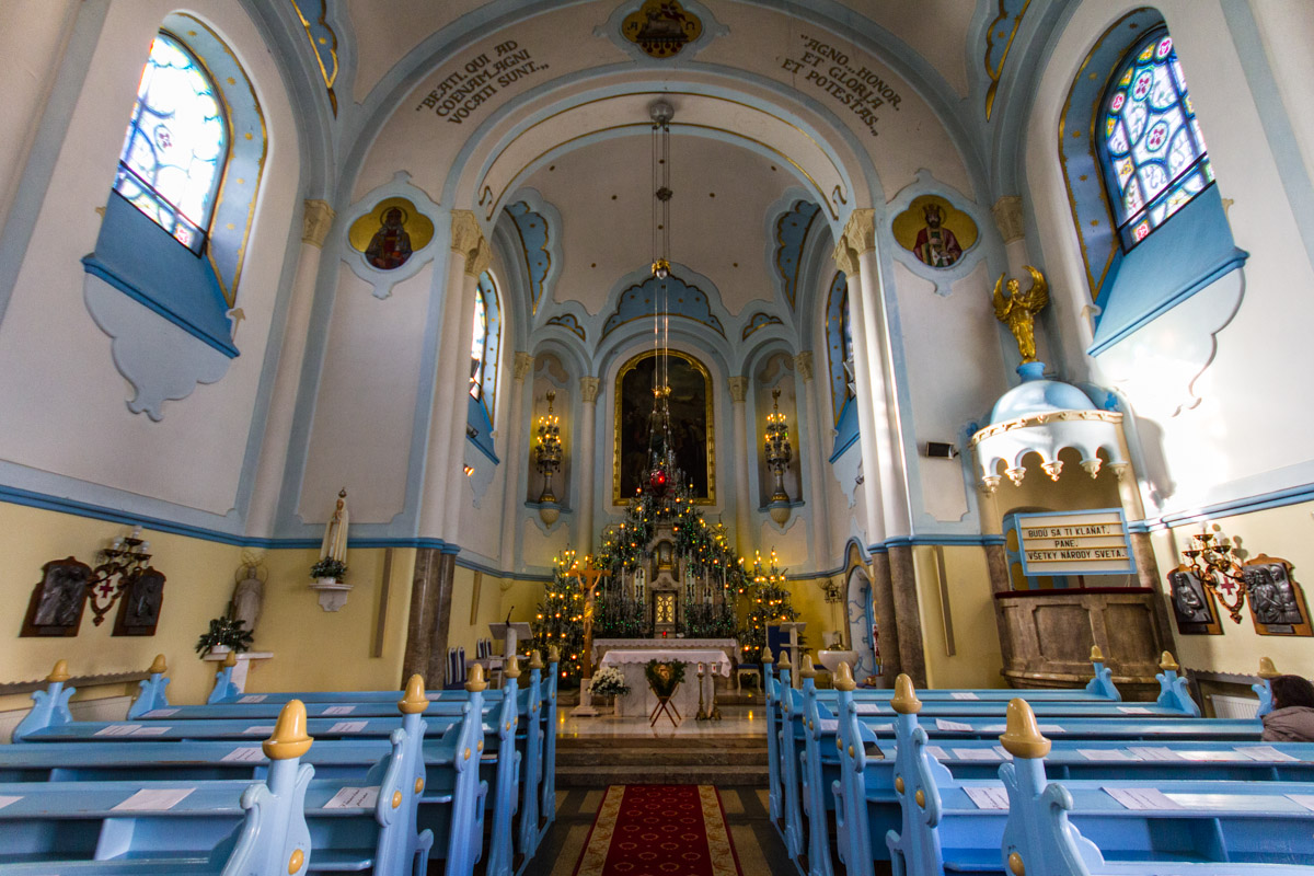 Inside Blue Church
