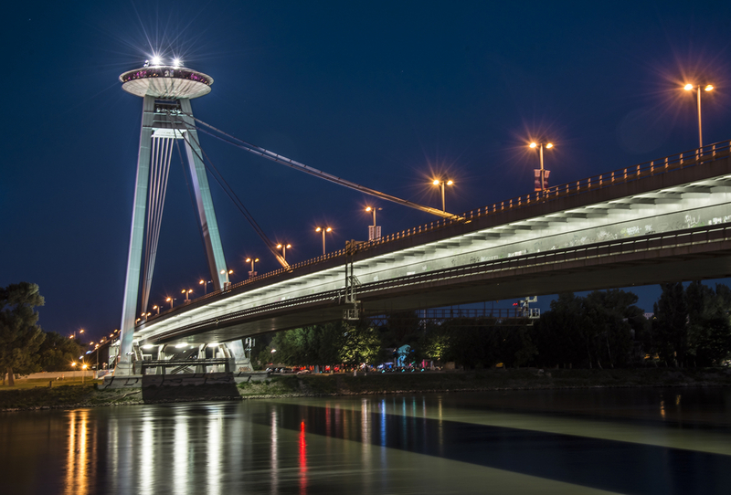 UFO Bridge at Night