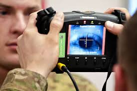 Law enforcement  - Systems for criminal IDs such as fingerprint or palm print authentication systems. Facial scans in large crowded areas (these systems are currently in use around the world). Retinal scans for persons with highly classified information.