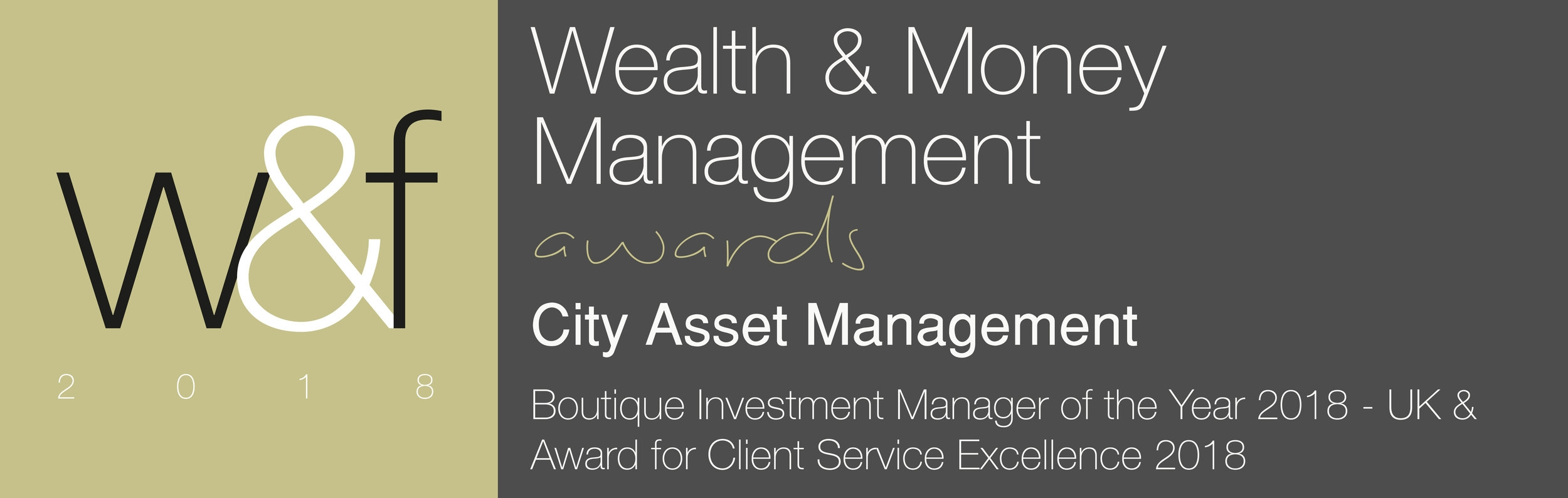 Wealth & Money Management Award 2018 Best UK Boutique Investment Manager