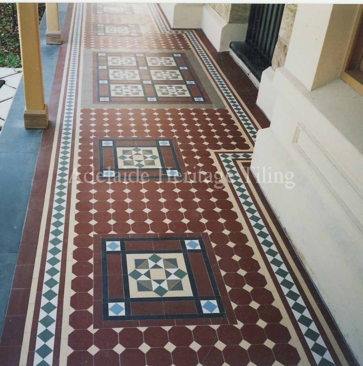 Special Red Octagons and Dots with Norwood Border and custom decorative panels