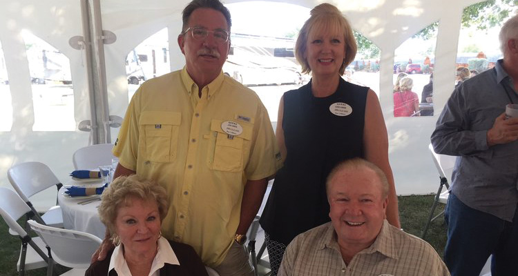 JOHN & KAREN WITH RON & PENNY LEE - CO-OWNERS OF COUNTRY COACH