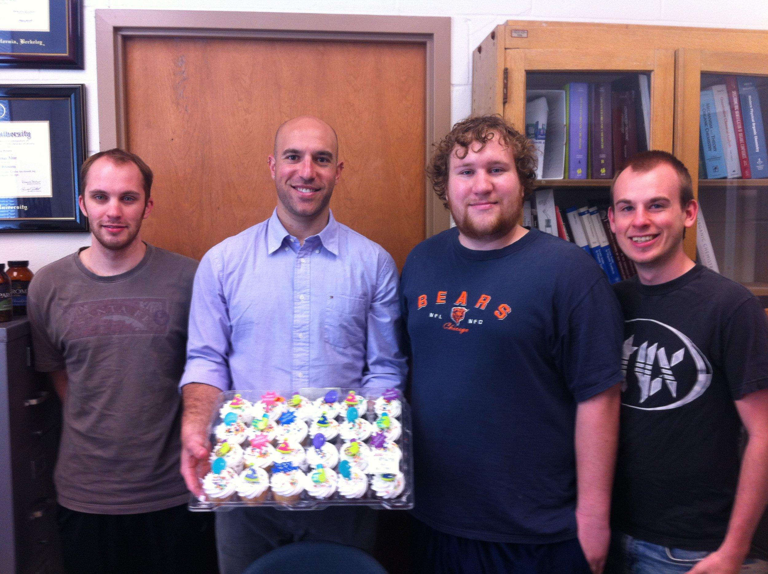 May 2013 (graduate students)   L to R - Matt Zielinski, MJA, Jeremy Hess, Brian Muller