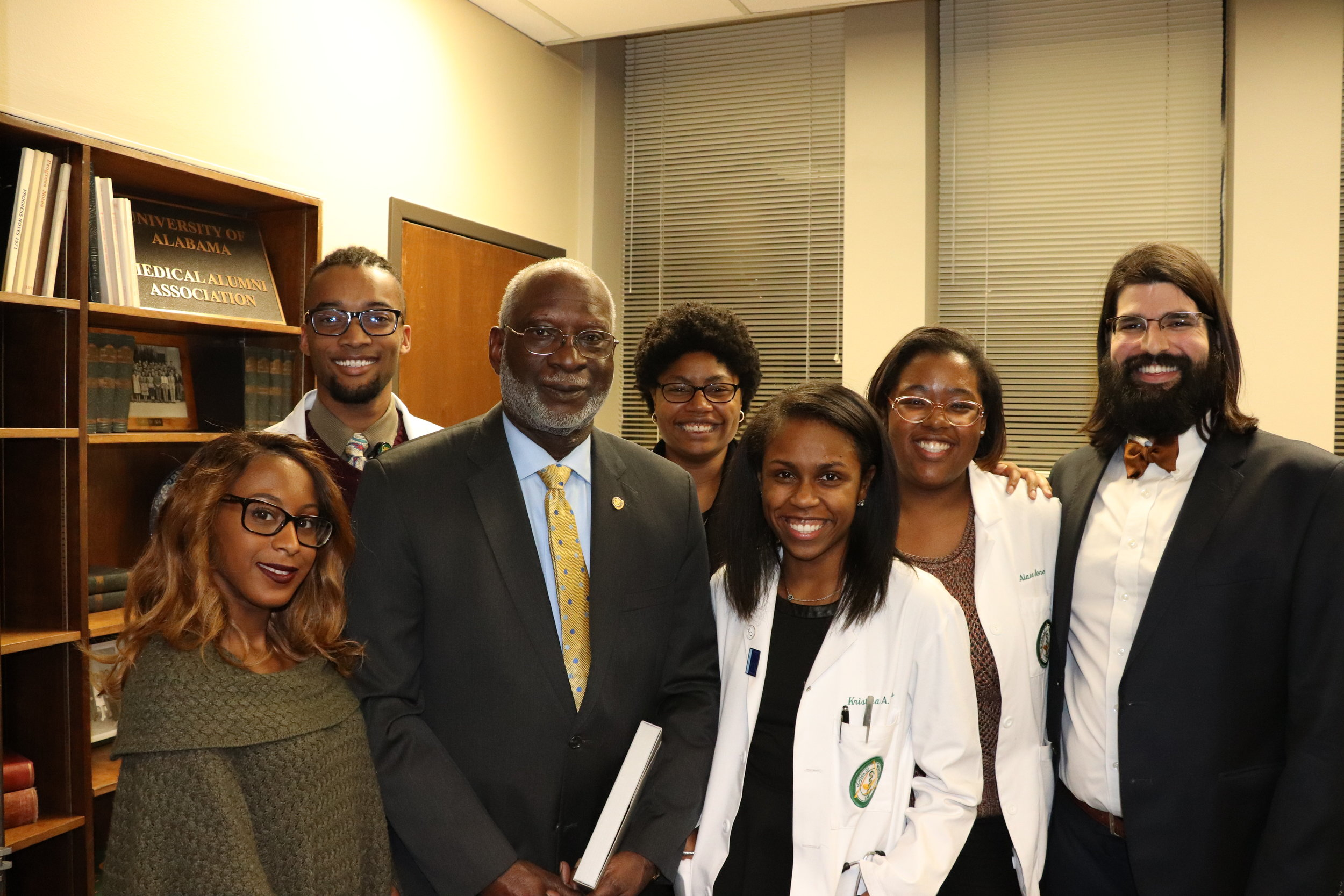 Future Researchers - ~30% of our membership consists of MD-PhD students who matriculated into the highly competitive Medical Scientist Training Program. Pictured: MSTP members with Dr. David Satcher, Former U.S. Surgeon General and first African American MD-PhD graduate from Case Western Reserve University