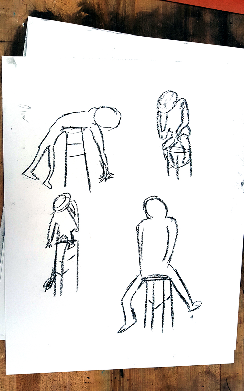 Quicker, gesture poses by an 11th grade student.