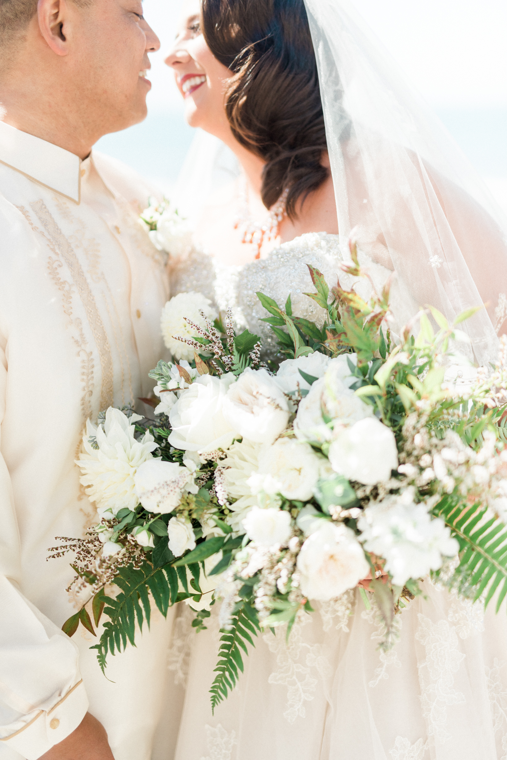 Bright and sunny white wedding in Ventura, California