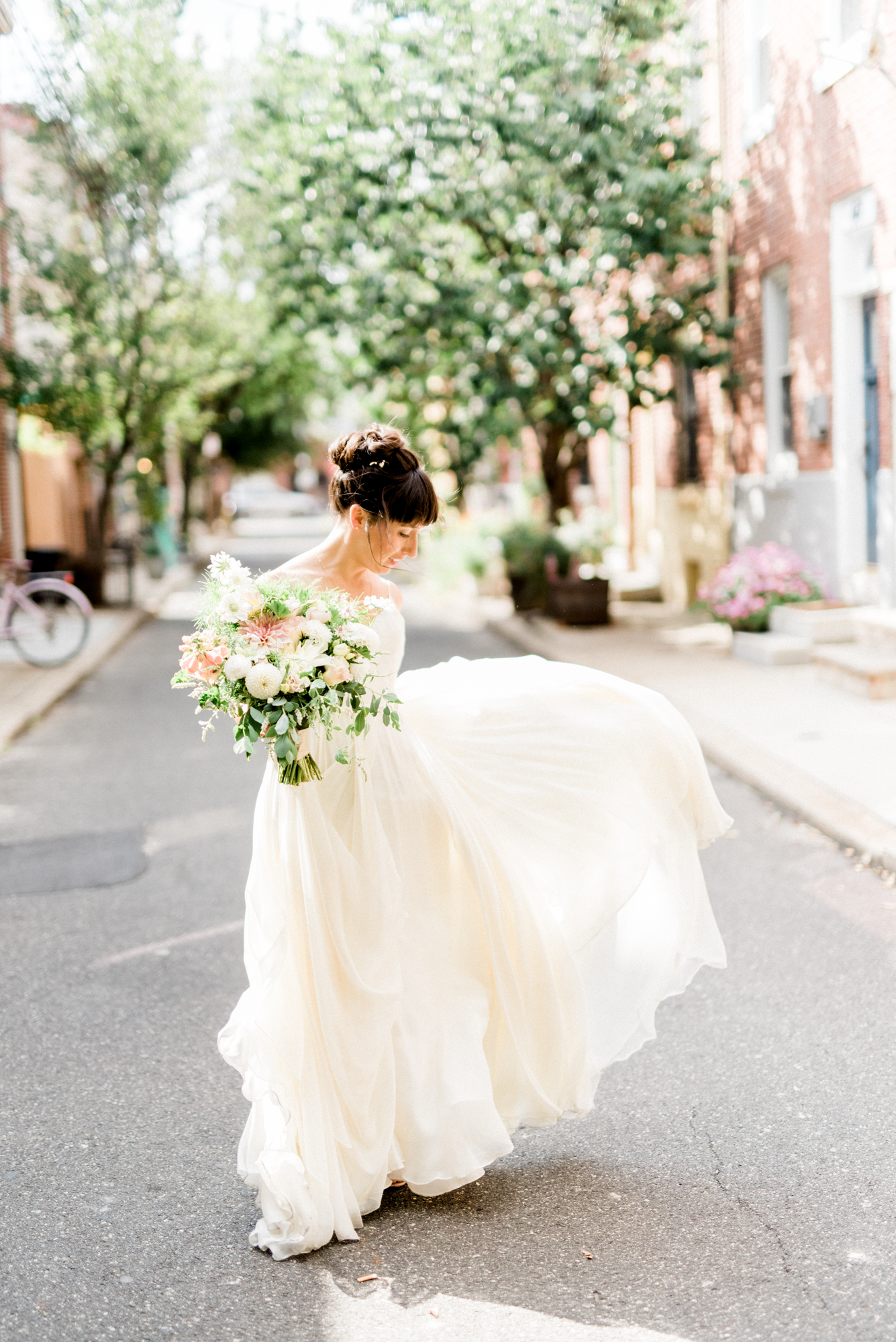 Hip and boho wedding at the Maas Building in Fishtown Philadelphia.