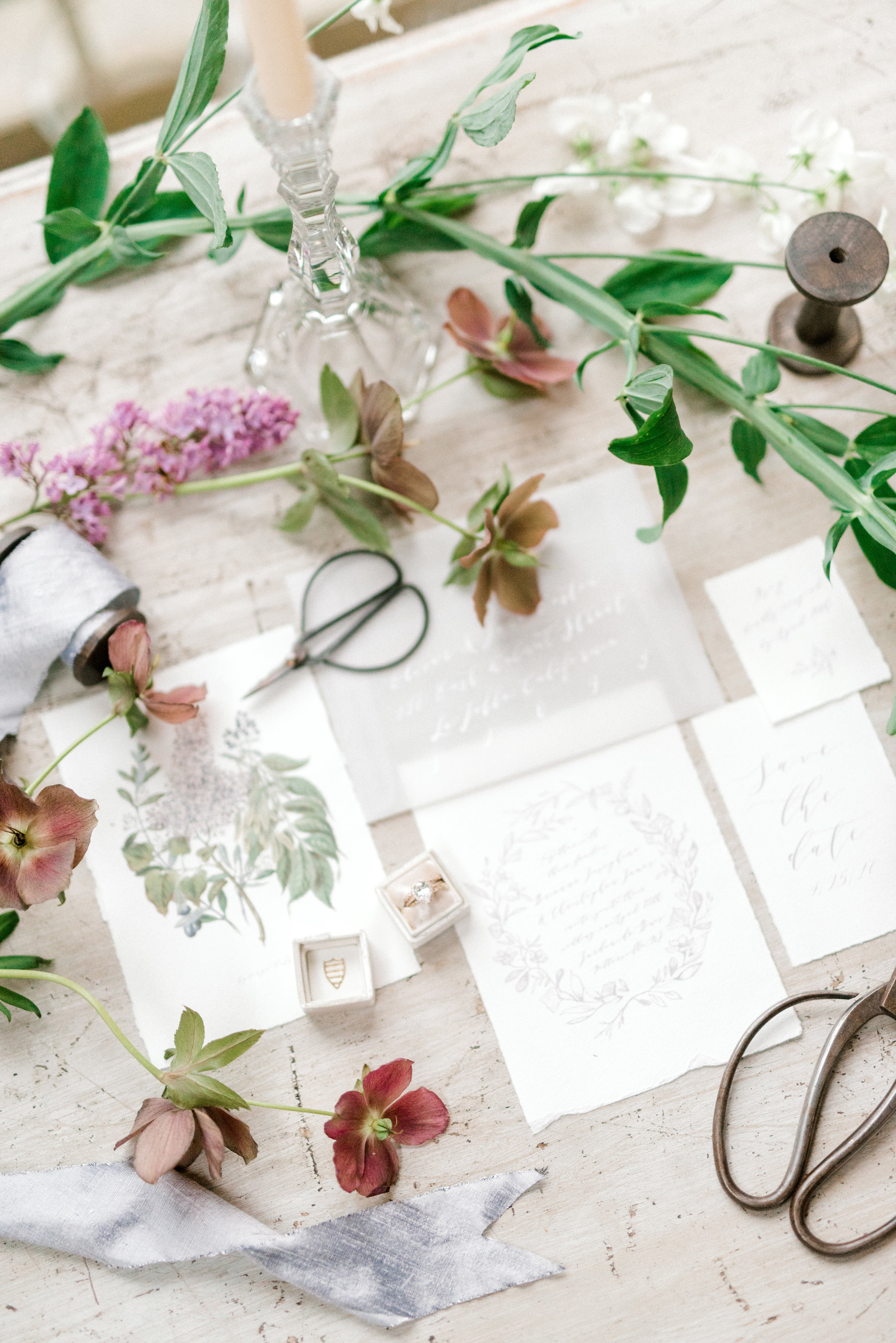 haley-richter-photography-jardin-de-buis-wedding-photos-greenhouse-wedding-bhldn-gown-lilac-wedding-bouquet-beaded-wedding-gown-new-jersey-weddings-garden-wedding-spring-wedding-details-european-inspired-lilac-purple-flowers