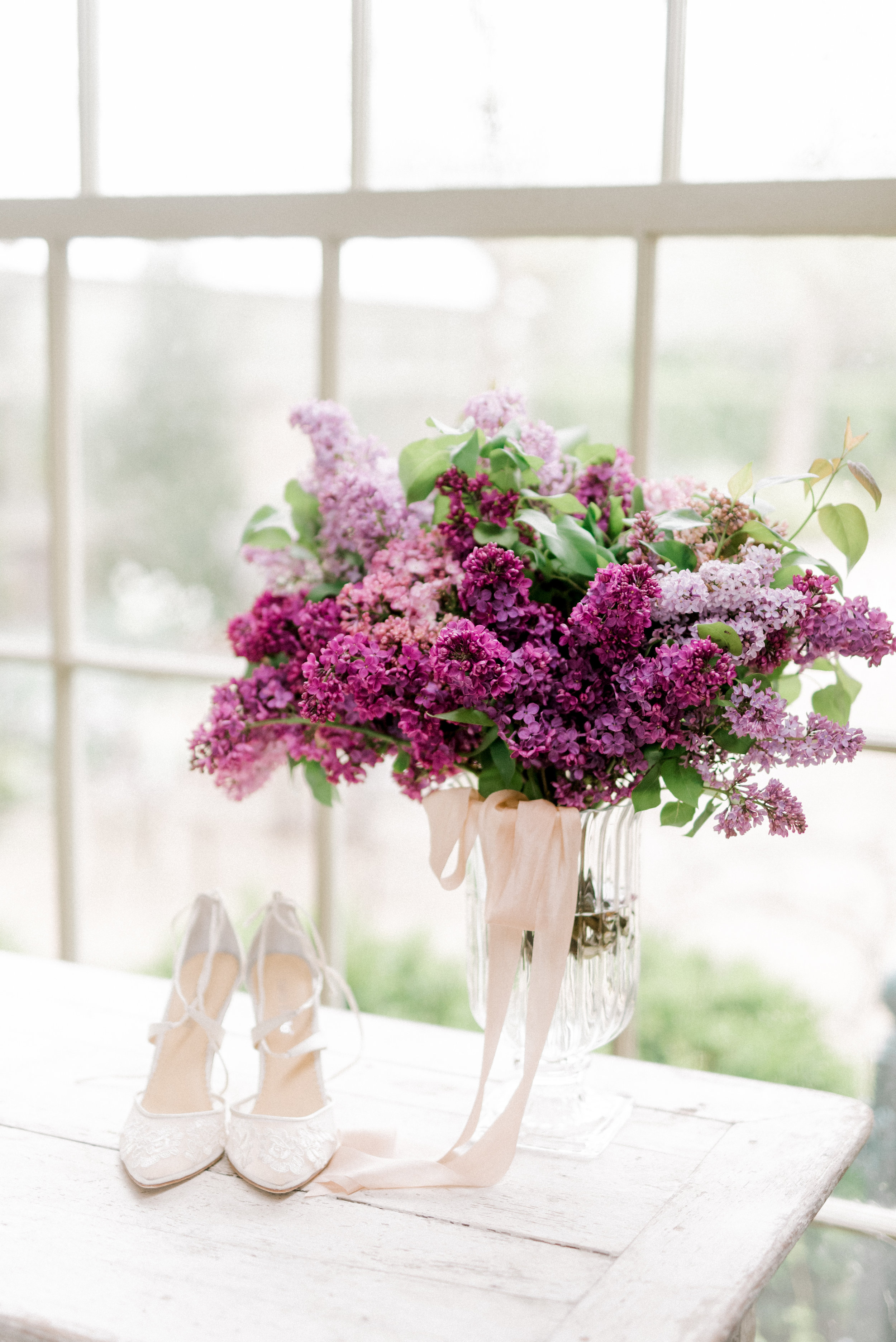 haley-richter-photography-jardin-de-buis-wedding-photos-greenhouse-wedding-bhldn-gown-lilac-wedding-bouquet-beaded-wedding-gown-new-jersey-weddings-garden-wedding-lilac-wedding-bouquet-spring-bella-belle-wedding-shoes-lace