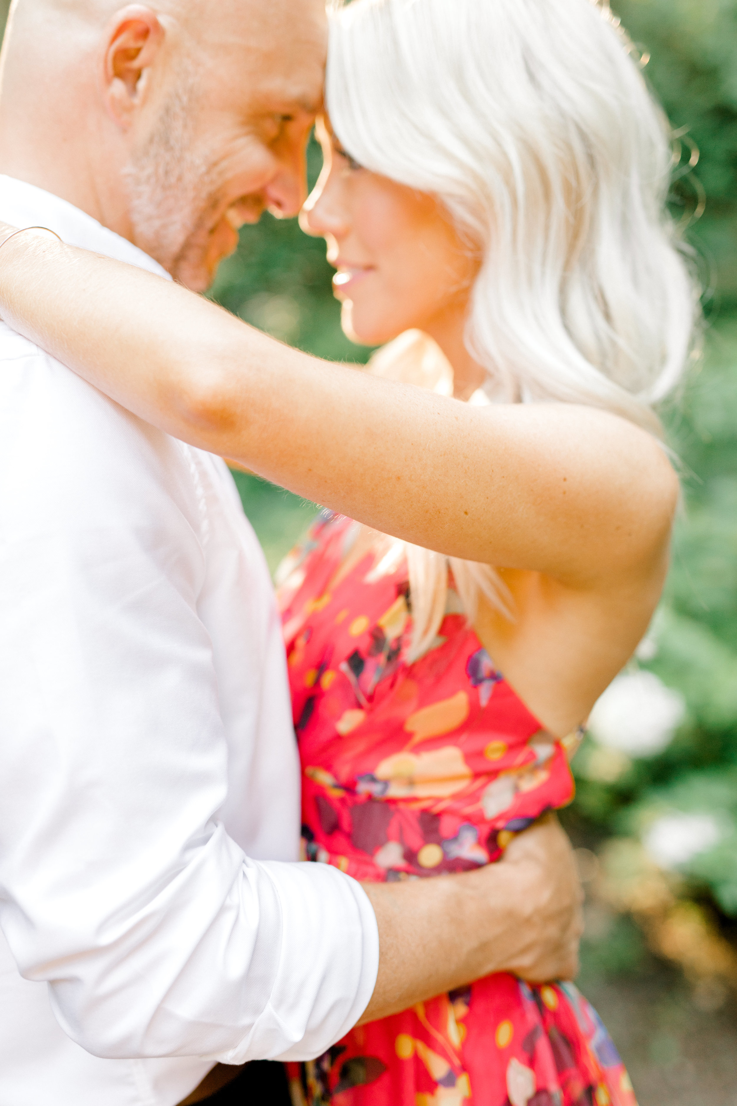 The way these two look at each other is all you need to see from their romantic woodland sunset engagement session at Parque at Ridley Creek to know just how truly in love they are.