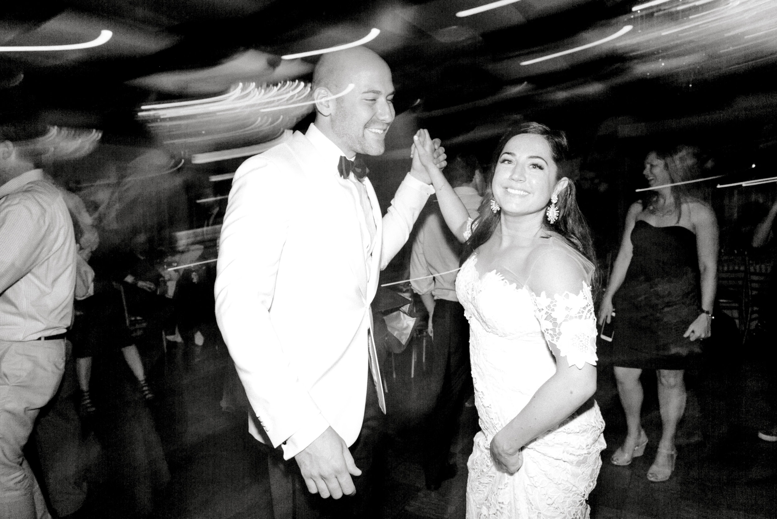 Lindsey and James dance the night away at their modern summer wedding at Hotel du Village.