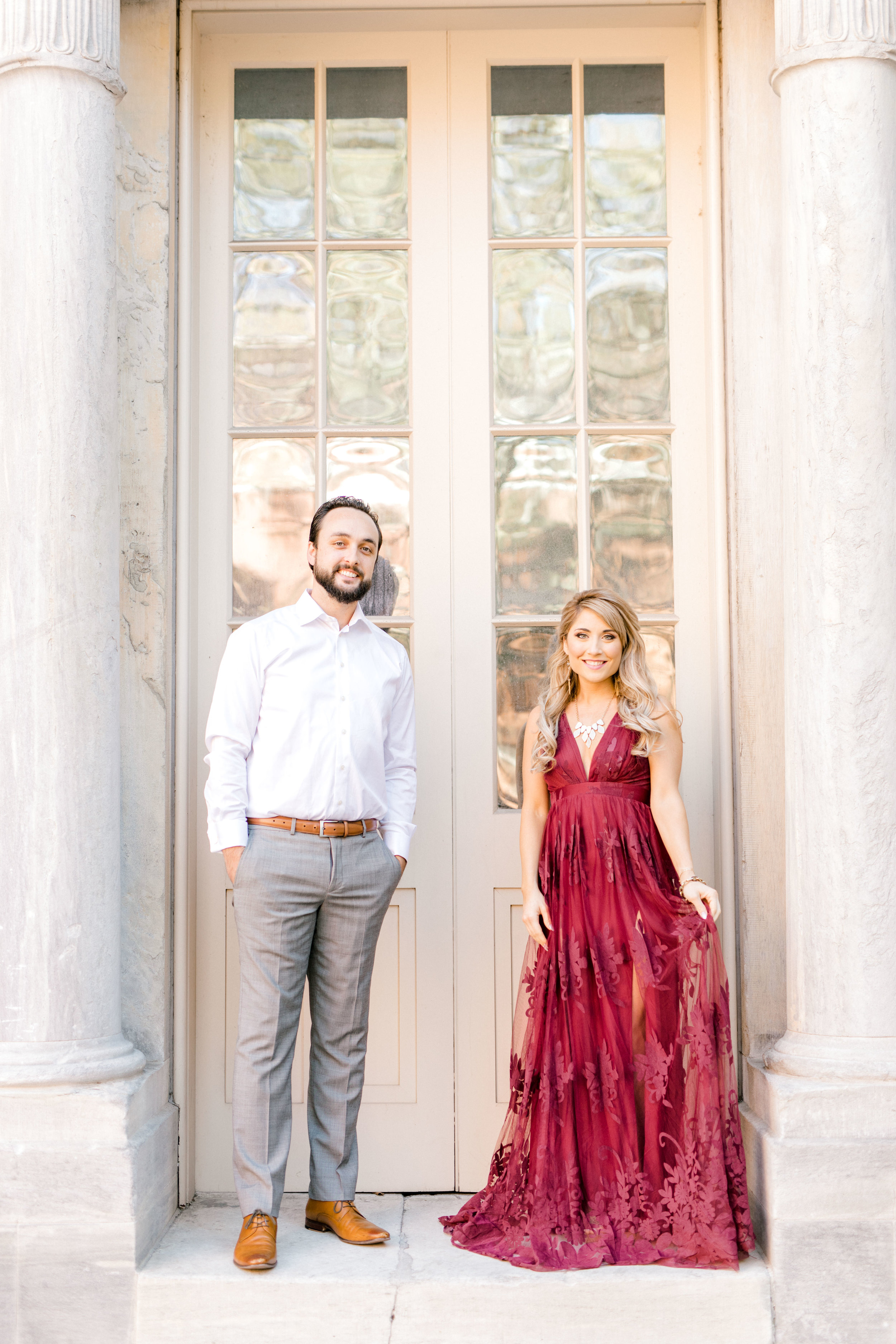 We adored the romantic styling for Nikki and Dale's bright fall engagement session in Old City, Philadelphia.