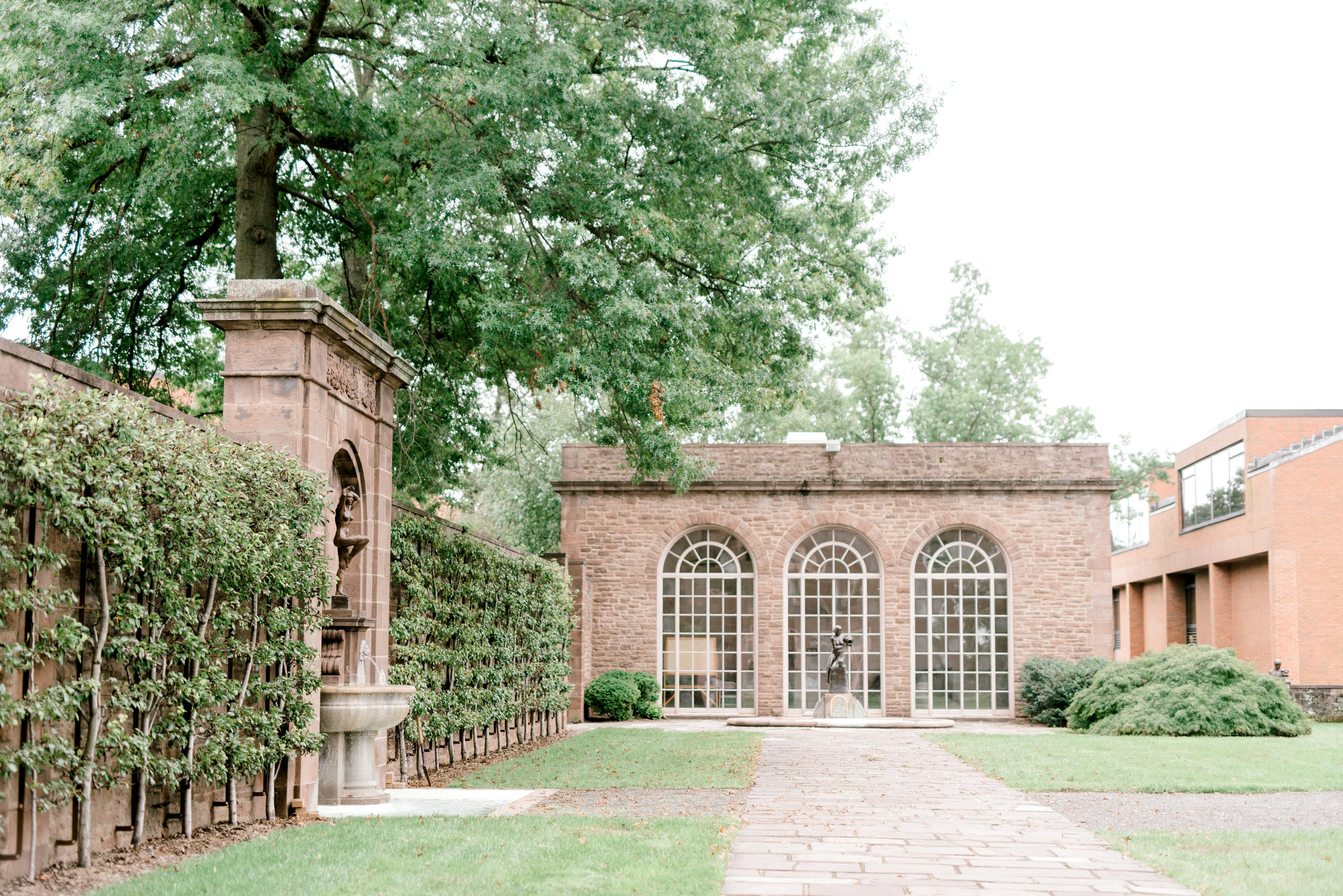 We love the elegant architecture that brings us right to France from this bright boho chic Tyler Gardens wedding in Bucks County