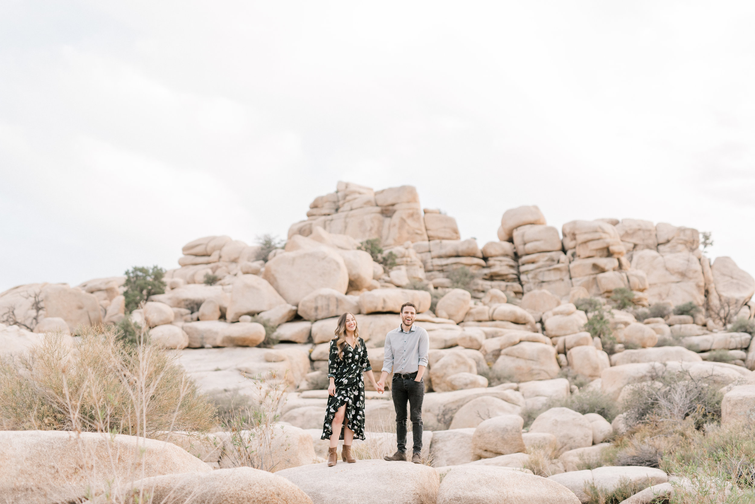 We adore the fun atmosphere of this free-spirited desert engagement session in Joshue Tree