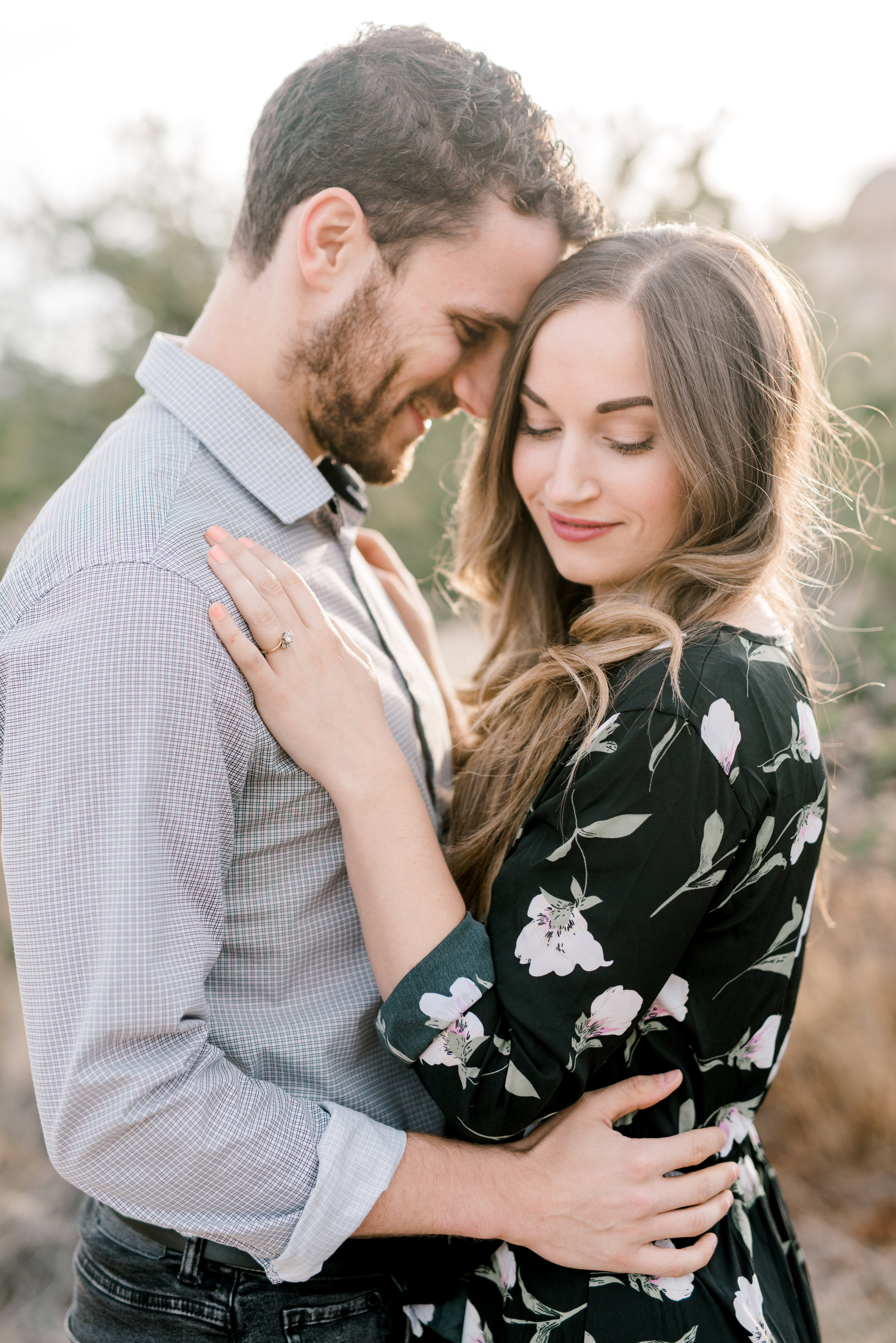 Sunset looks amazing on these two for their free-spirited desert engagement session in Joshue Tree