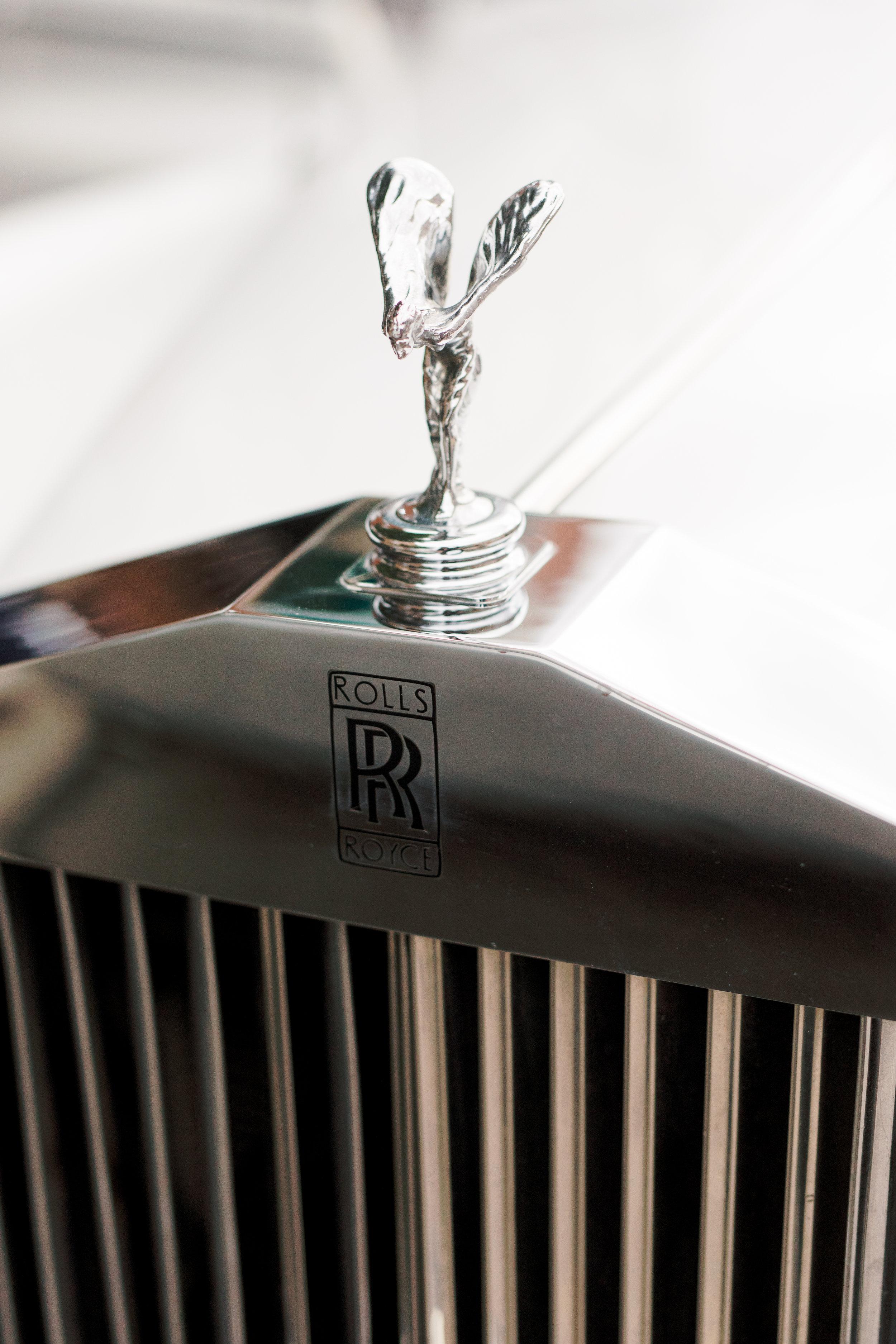 rented rolls Royce on wedding day