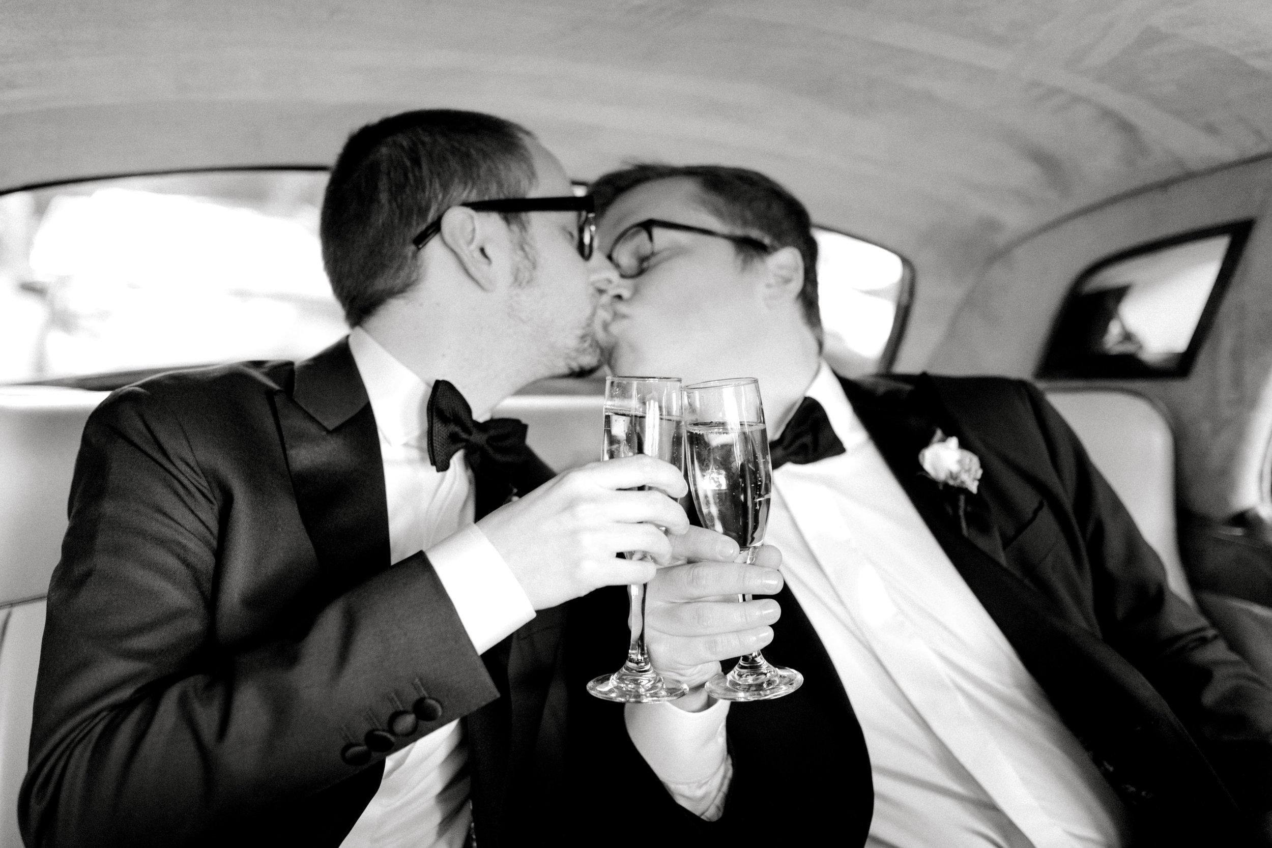 classic wedding in Philadelphia with a Rolls Royce