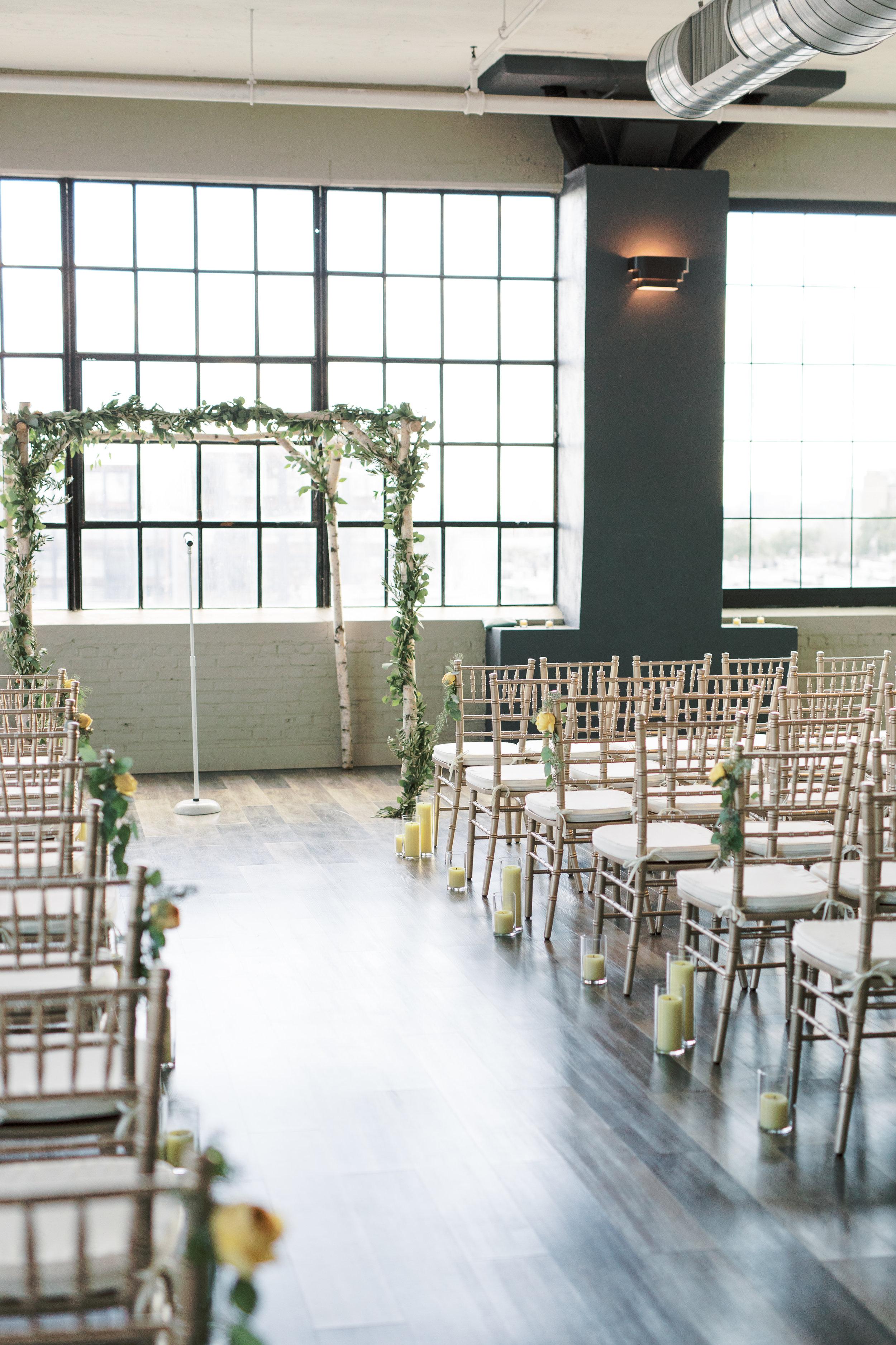 FAME, Philadelphia wedding venue, ceremony setup