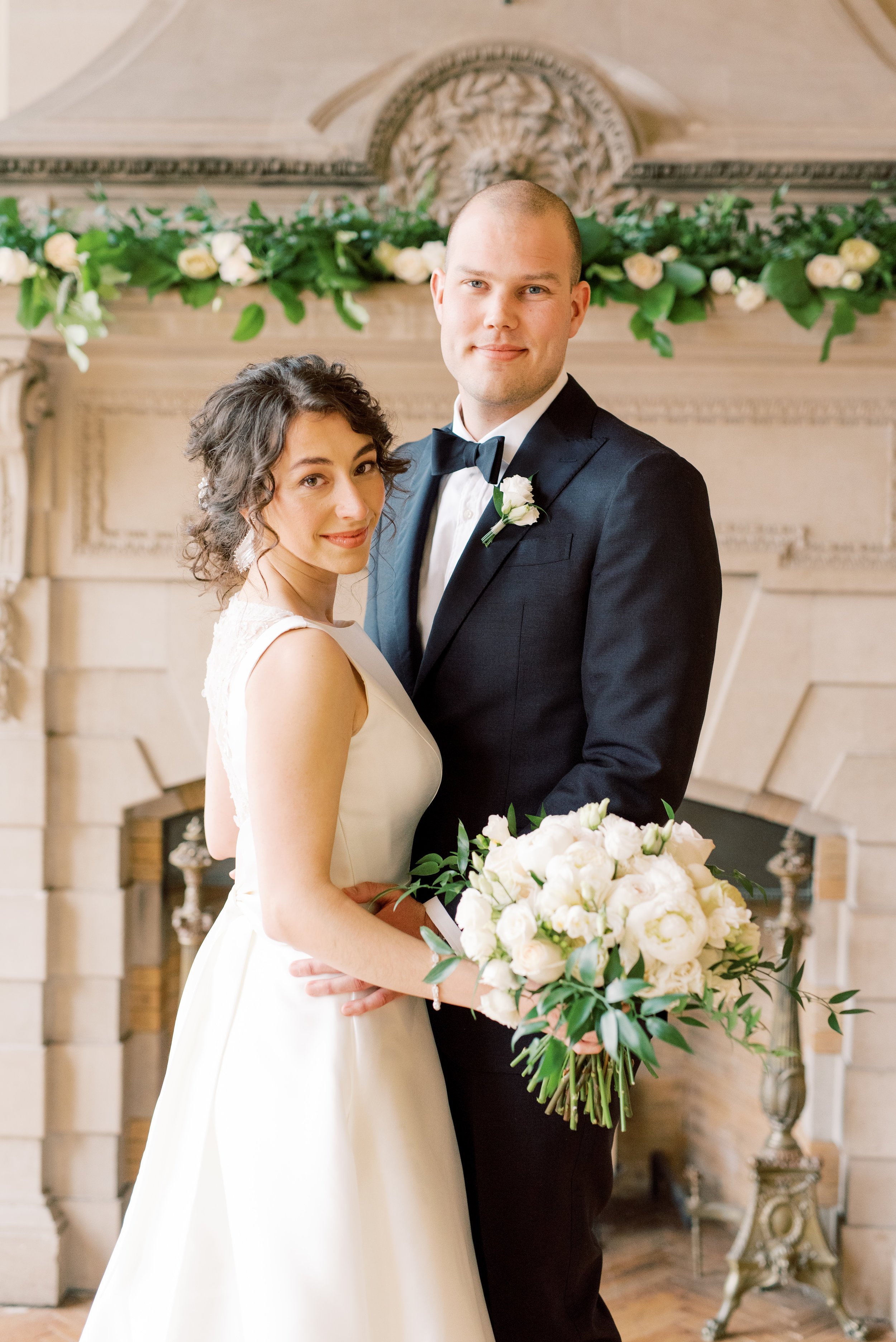 Gah, we just love the classic look of this bride and groom from their romantic and classic wedding day for their french inspired green and white Cairnwood Estate wedding
