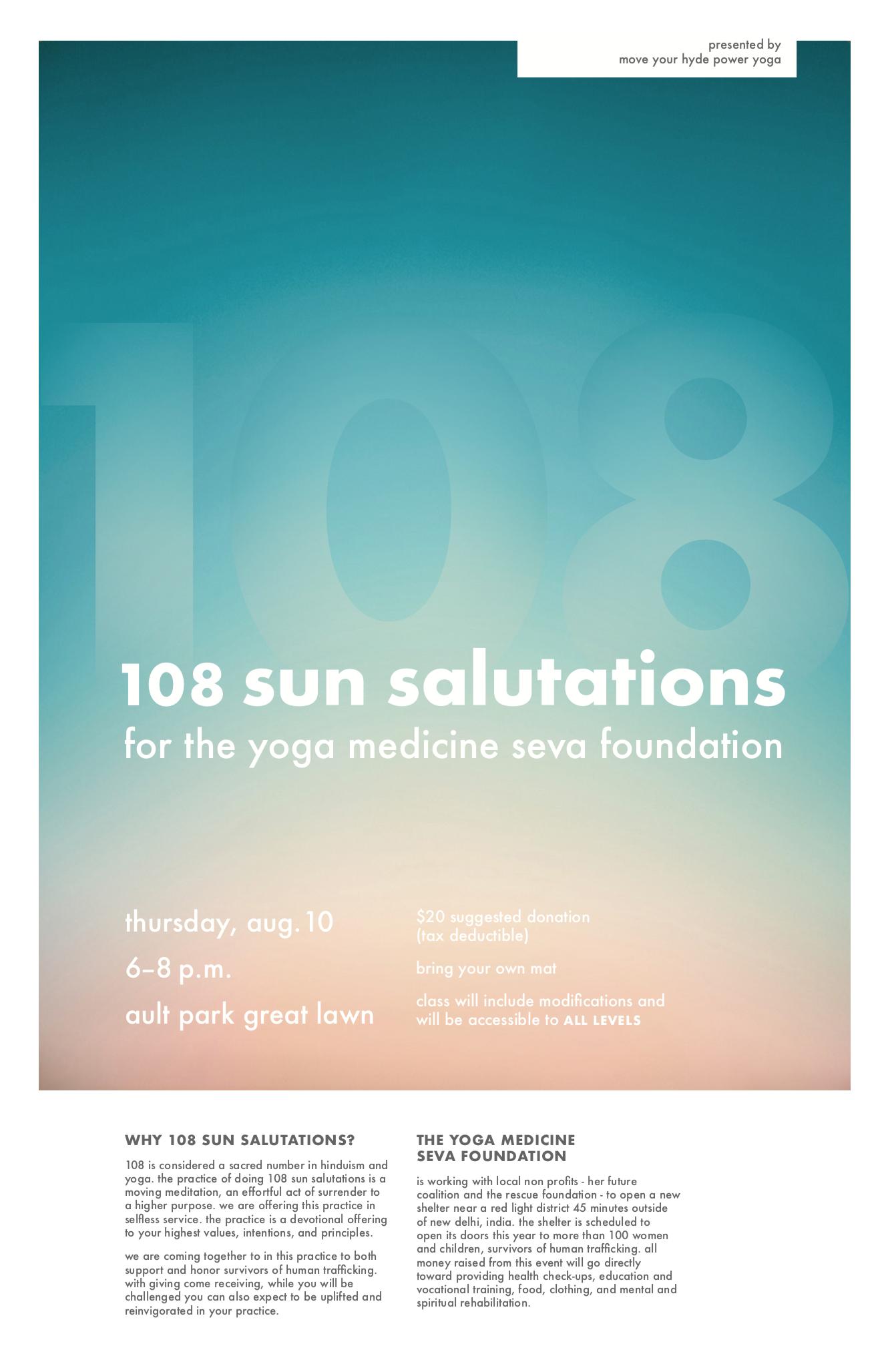 108 sun salutations at ault park