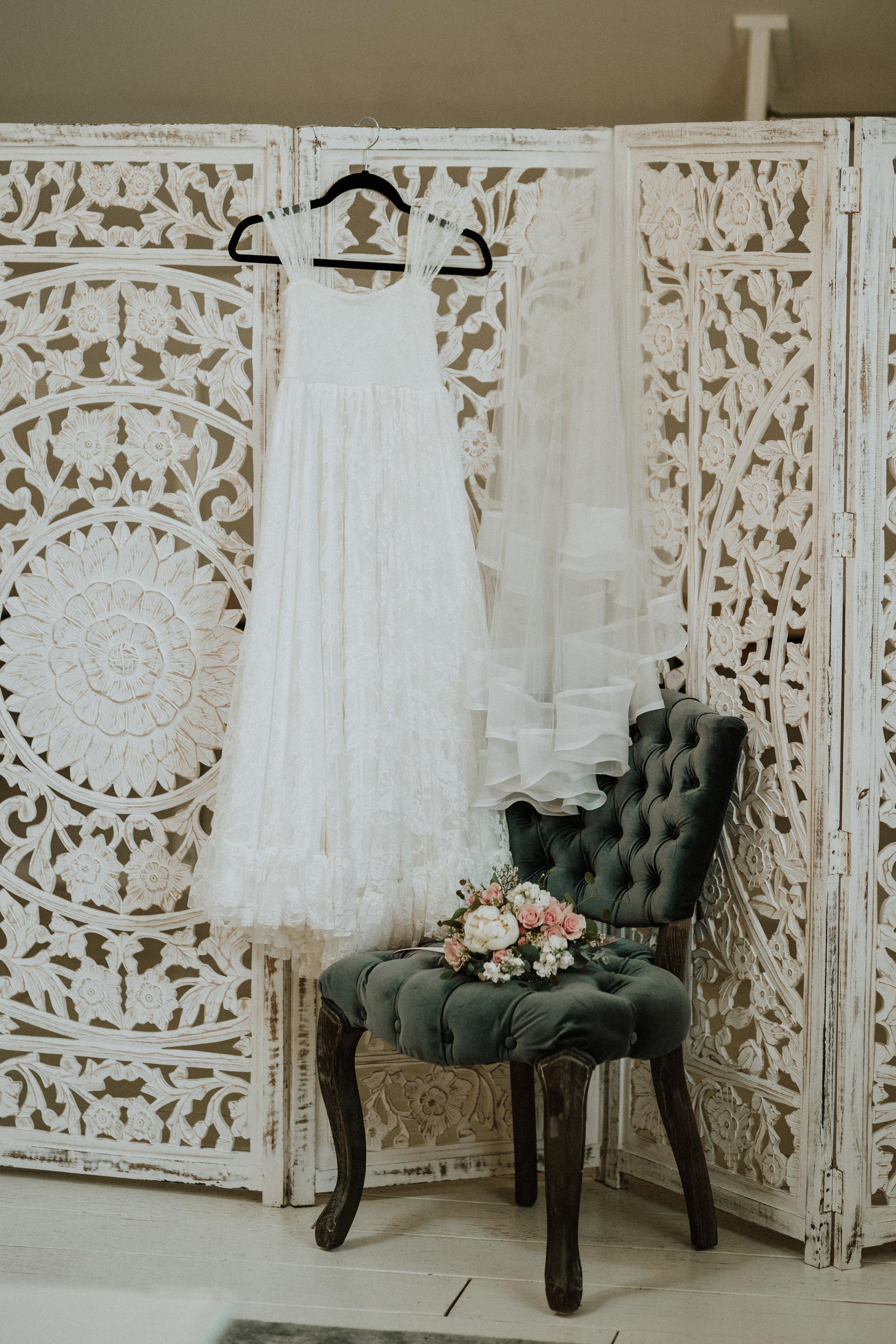This gorgeous Bridal Suite is found at Ramble Creek Vineyard.