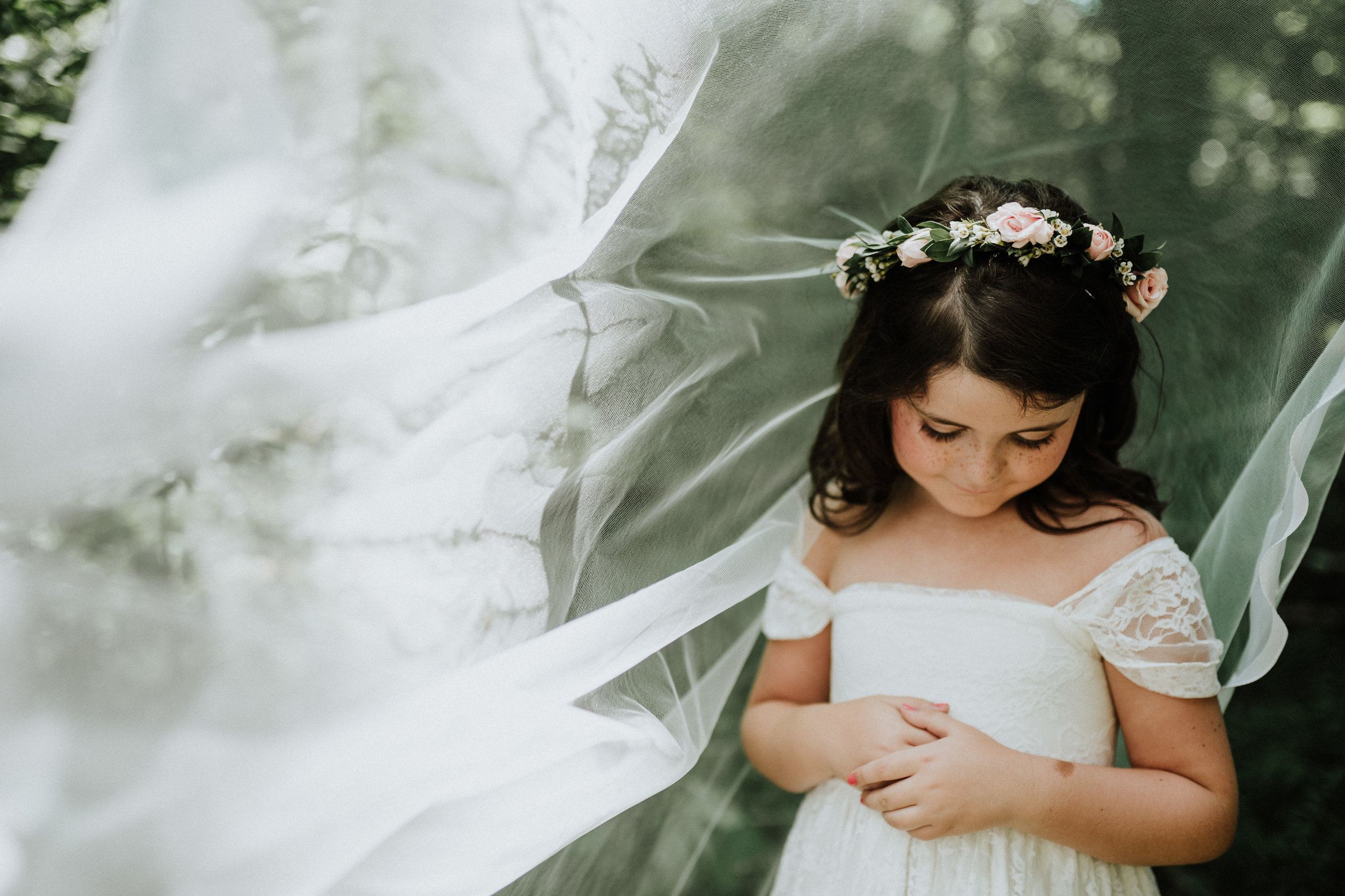 This veil was the perfect addition from  Loveliest Bridal .