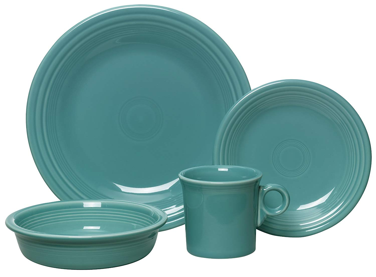 Fiesta 4-Piece Dinnerware Place Setting-Turquoise