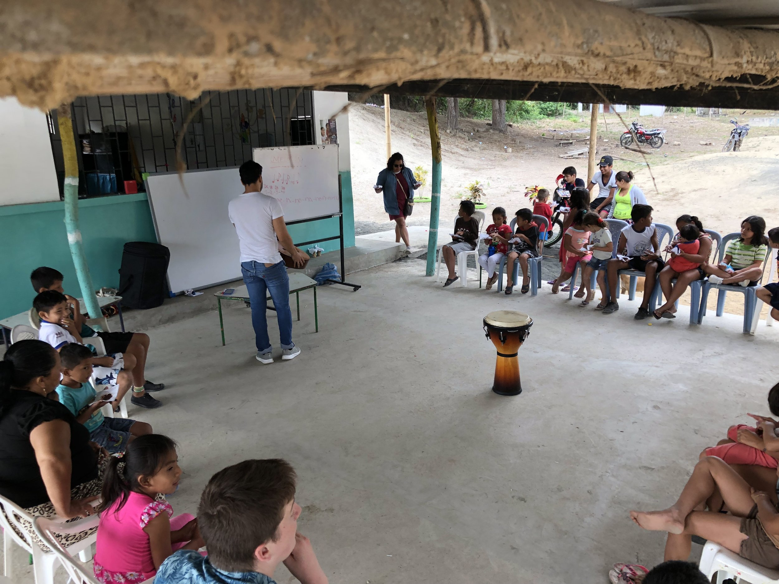 Music Program - $10 will help provide transportation to local Ecuadorian band & non-profit Hope Ecuador to and from the community of El Junco.$25 will provide nutritious snacks for 15-25 children$50 will provide a mini guitar or other instrument for the children.$75 will provide musical software the children can use to practice together 3x a week.$100 will provide a concert for the community of Junco to show off their newly learned skills and develop a sense of confidence performing in front of their peers.