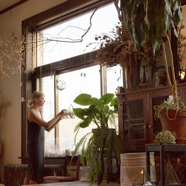We did a shoot today in the amazing @jenniferjoycedesign space! We went there to photograph jewelry, but the space was just so amazing that we couldn't help but zoom out. . . . . #menomonie #dowtownmenomonie #florist #jewelry #plants #goodvibes Model: @summerjlahti