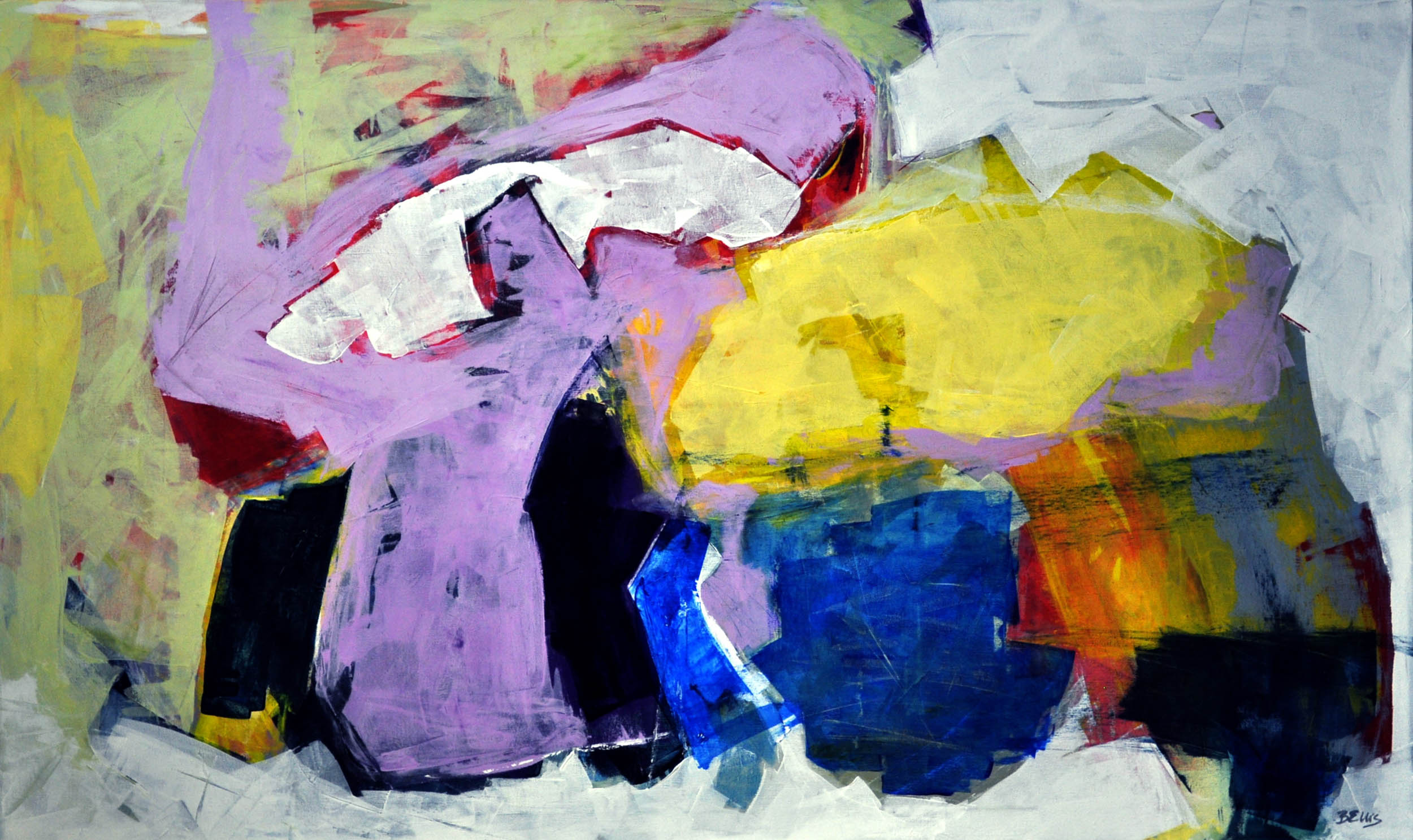 Lavender Dance   Acrylic on gallery wrap. 42 X 70 X 1.5