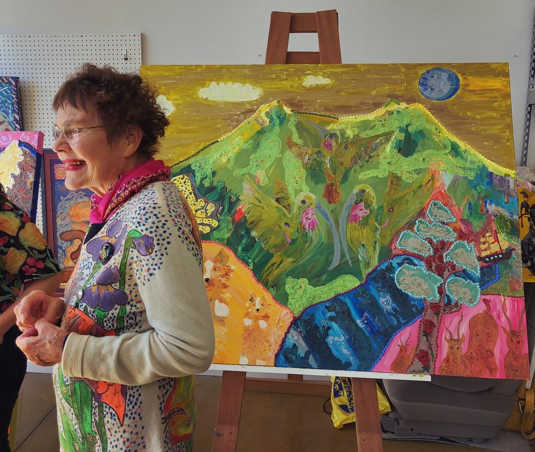 Maija Peebles-Bright in her home studio April 8, 2018