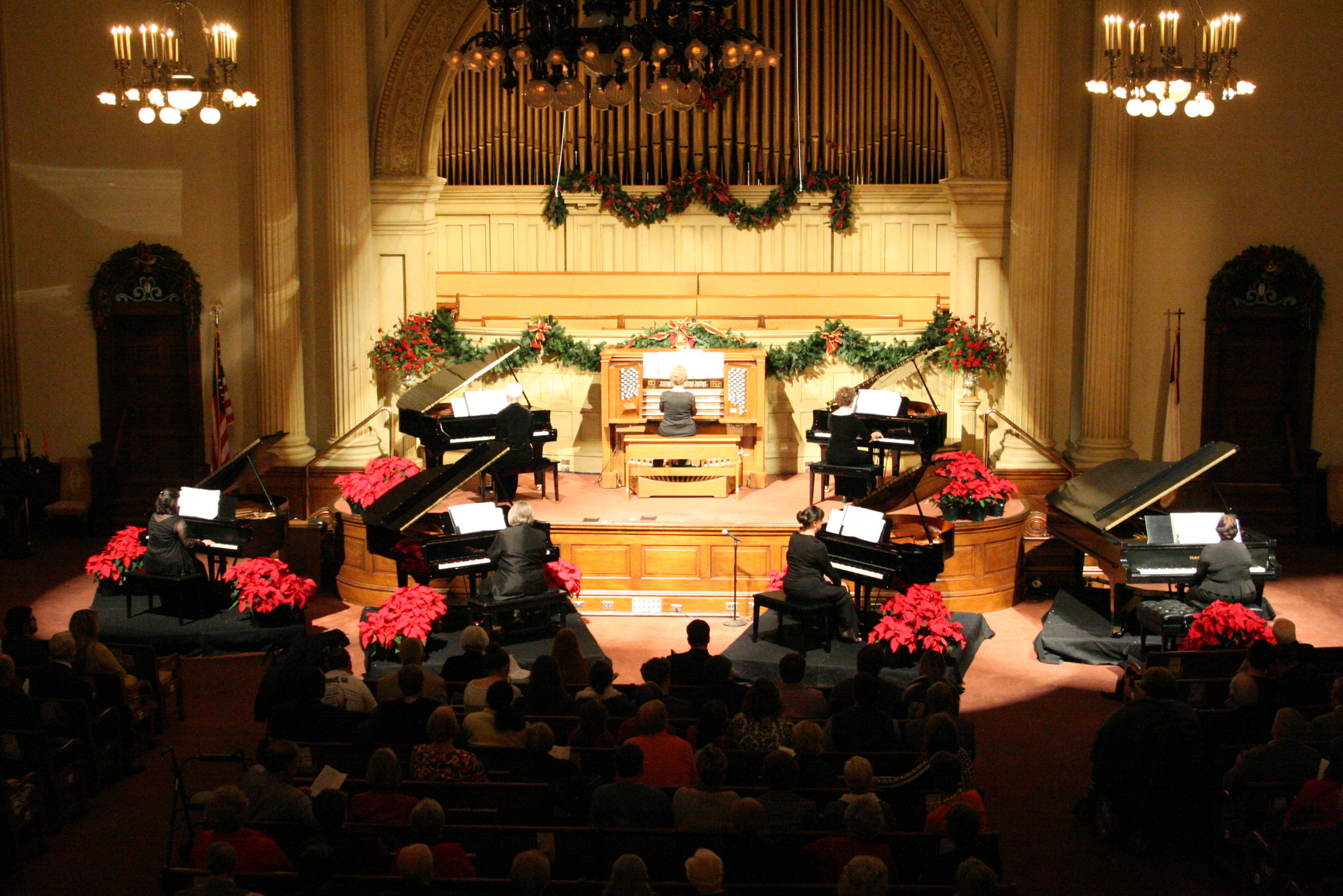 Keyboards at Christmas features multiple organs and pianos each year.