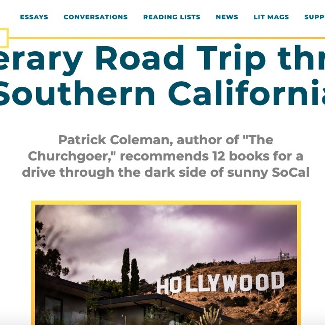 A Literary Road Trip through Southern California (essay/list)