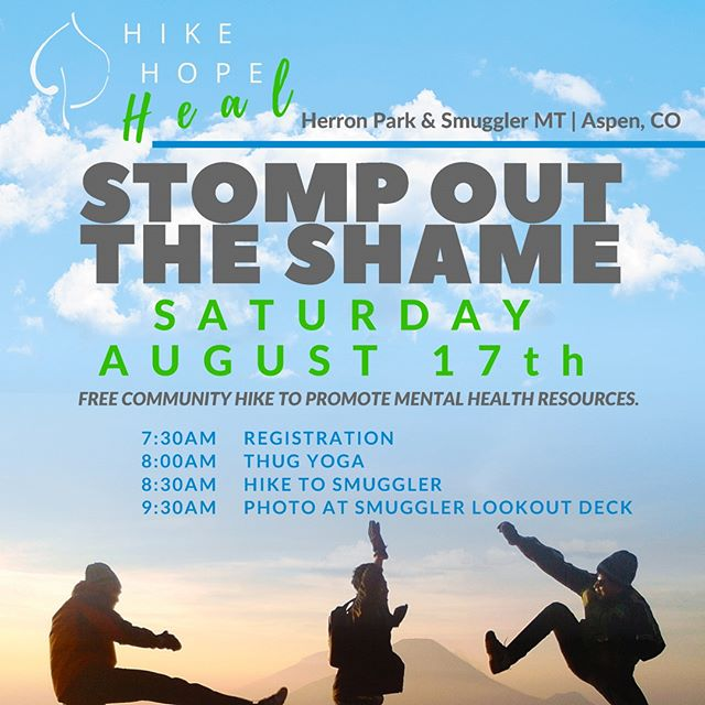 We are so thrilled to be a part of the @aspenstrongfoundation annual community hike to promote mental health this year! Join us this Saturday morning at Herron park for coffee, pastries, yoga & a little hike with a big view!