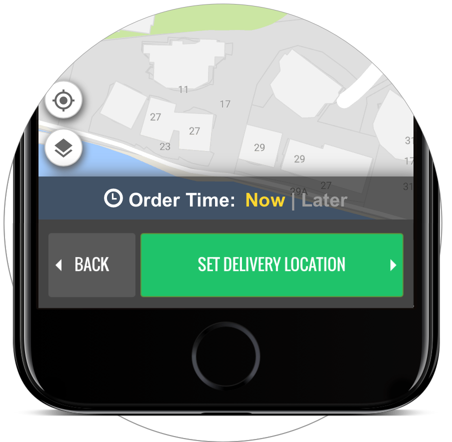 Set your order time for Now or Later. -