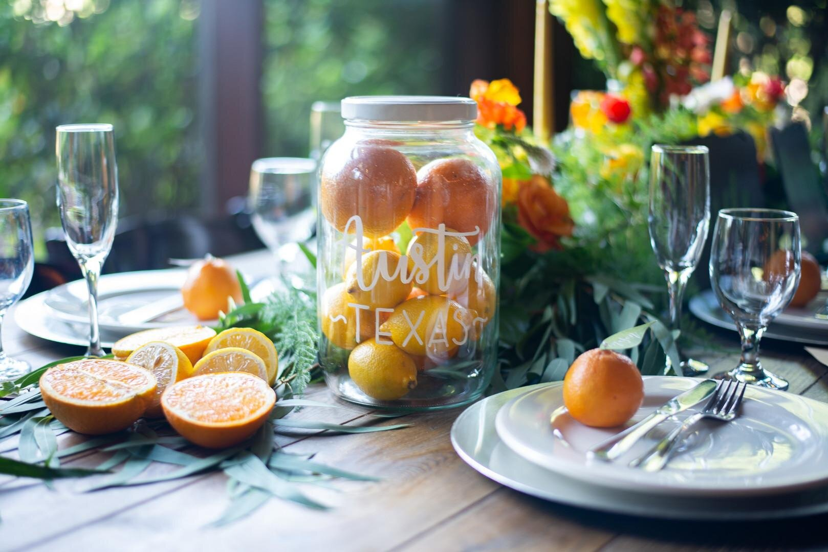 Citrus Themed Wedding, Crestline, CA