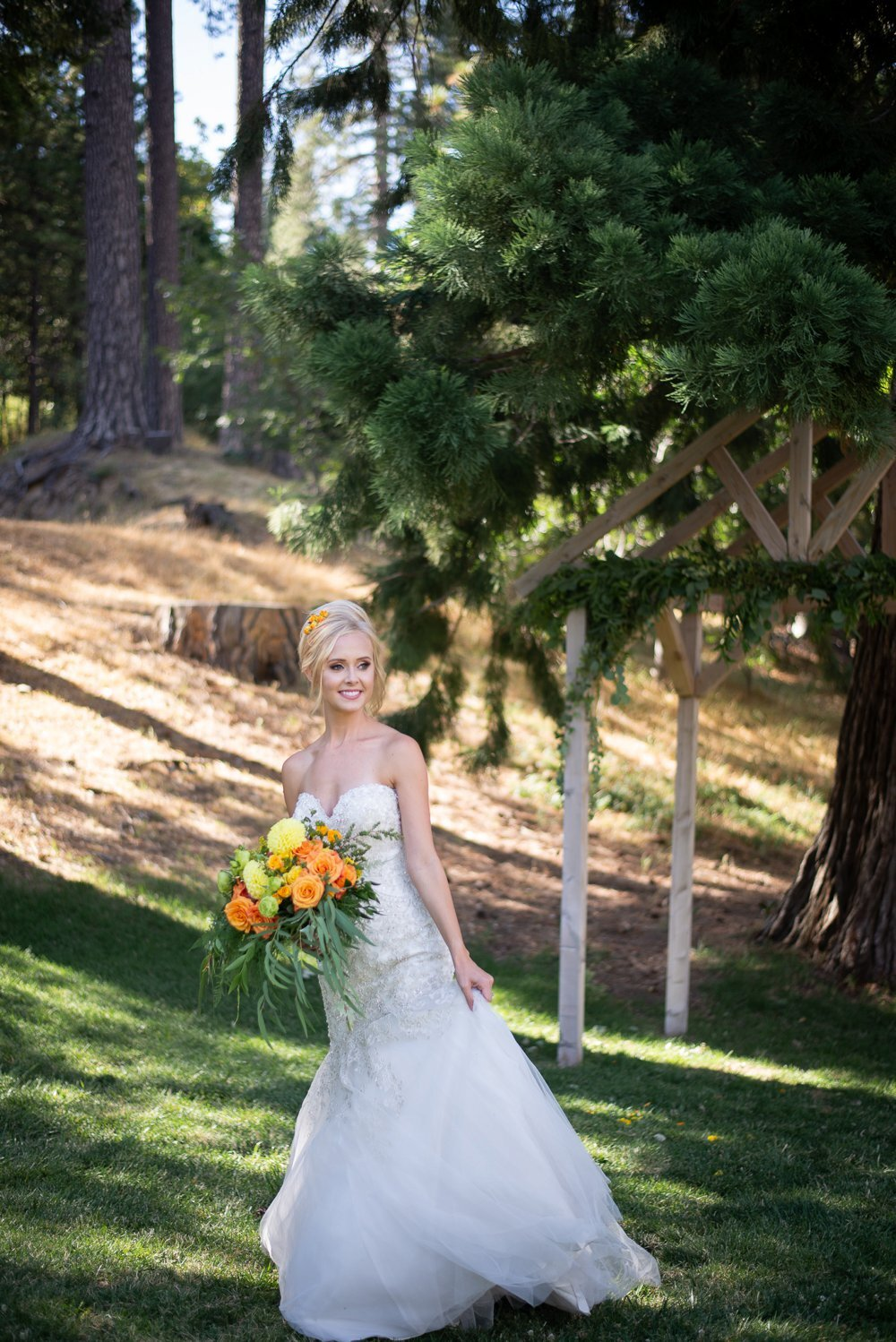 Citrus Themed Wedding, Crestline CA