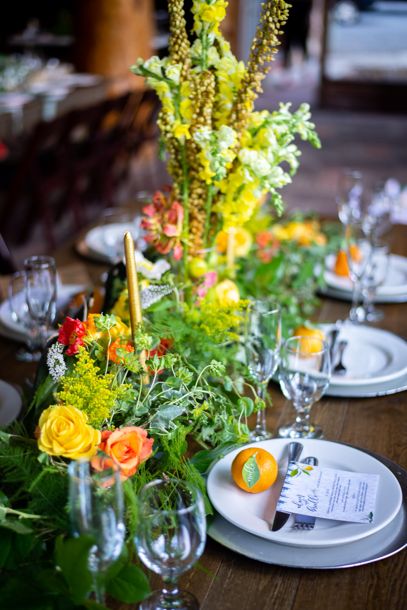 Citrus Themed Wedding- Crestline, CA