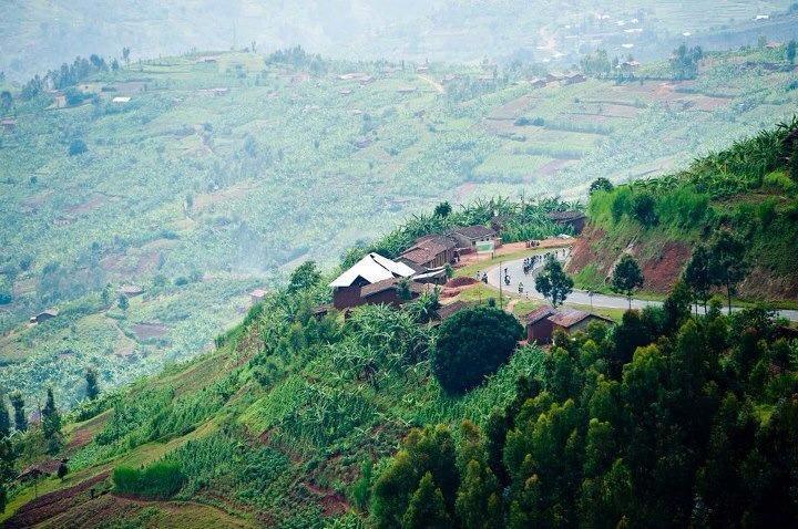 The Hills bordering Rwanda and Kenya. Tour of Rwanda, 2012.