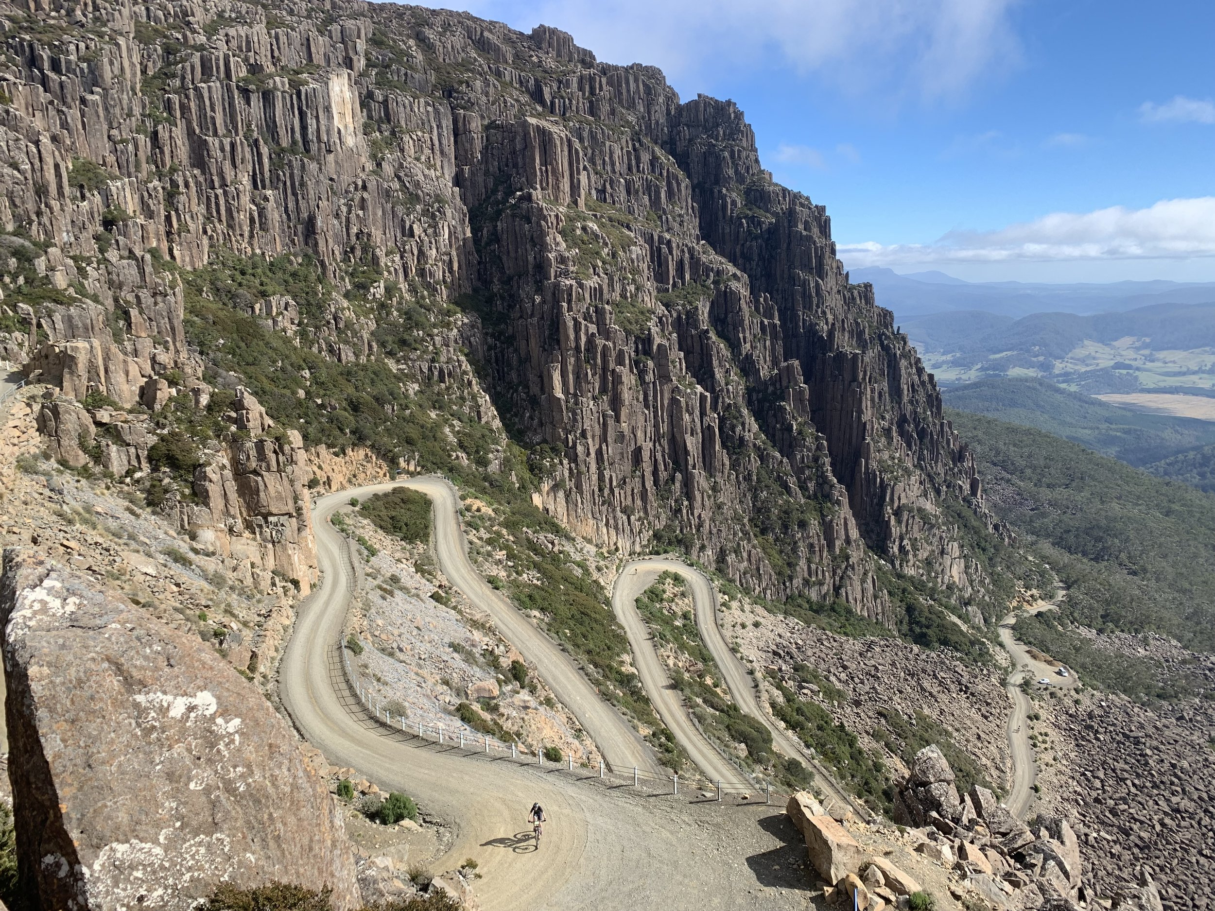 The climb to Ben Lomond ski village in Tasmania is the state's highest road at close to 1600m asl. Photo: M. Pulcipher