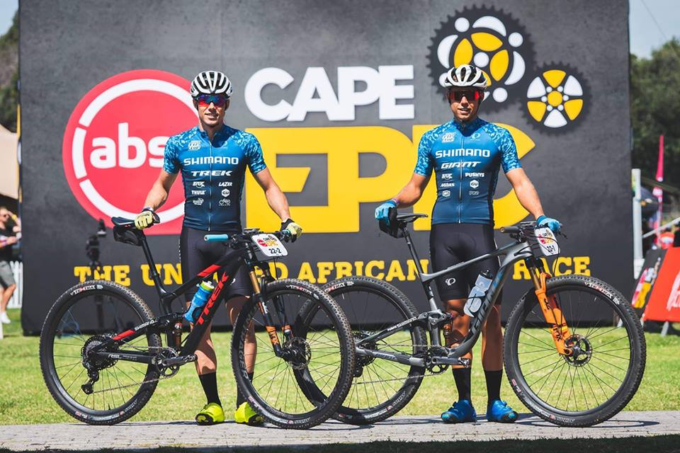 Racing the 2019 Cape Epic in South Africa with Brendan Johnston. Photo: Cape Epic