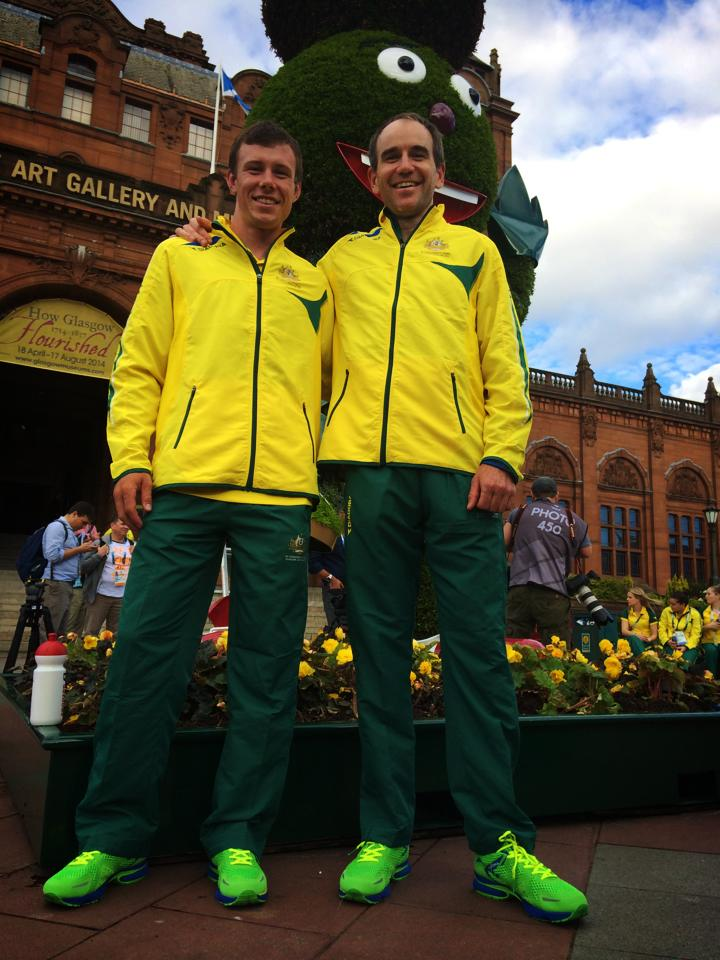Cameron Ivory and Andrew Blair at the 2014 Commonwealth Games.