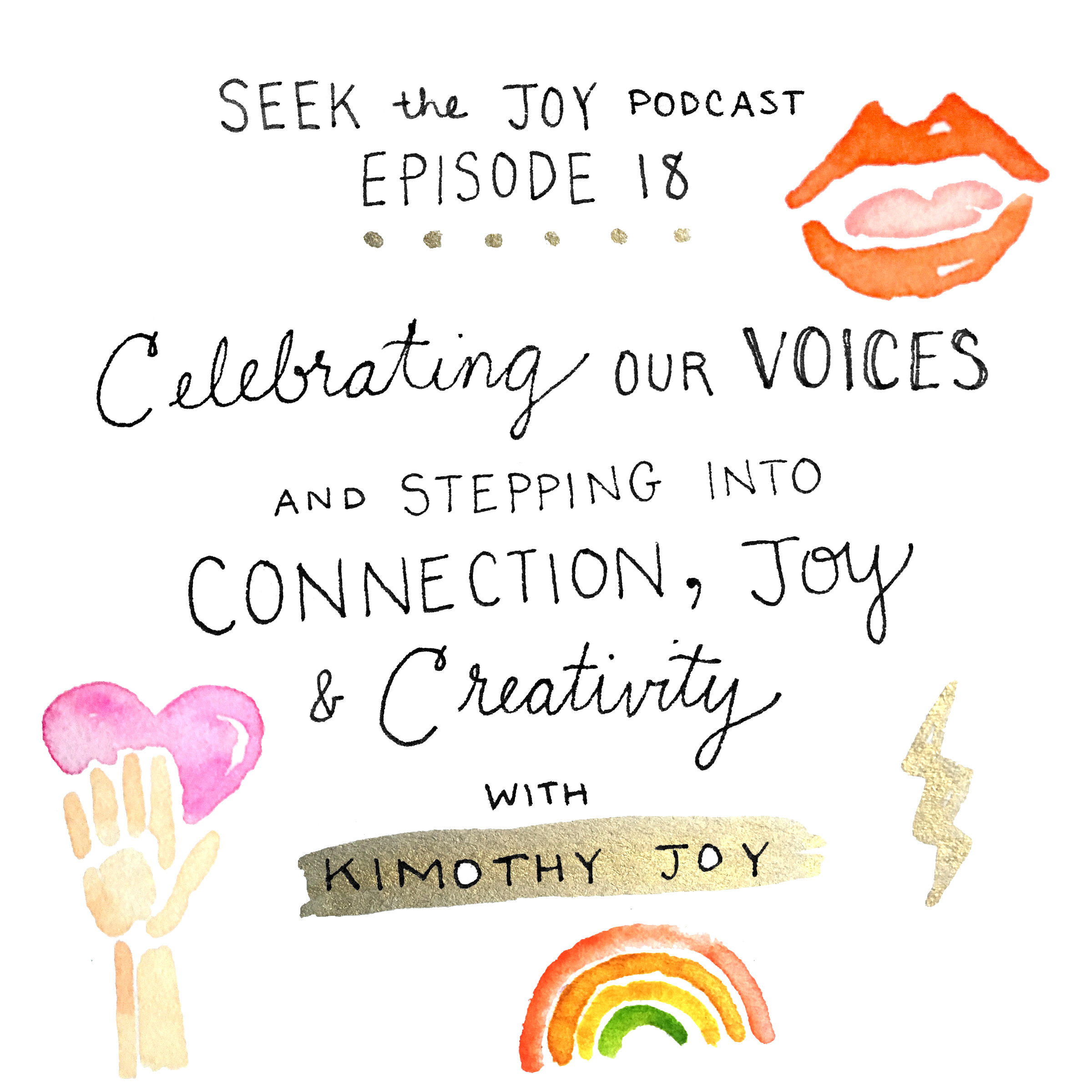 Kimothy created this awesome doodle for the title of today's episode. I love it, and it perfectly captures our conversation. Thank you Kimothy for this awesome piece to go along with today's conversation!